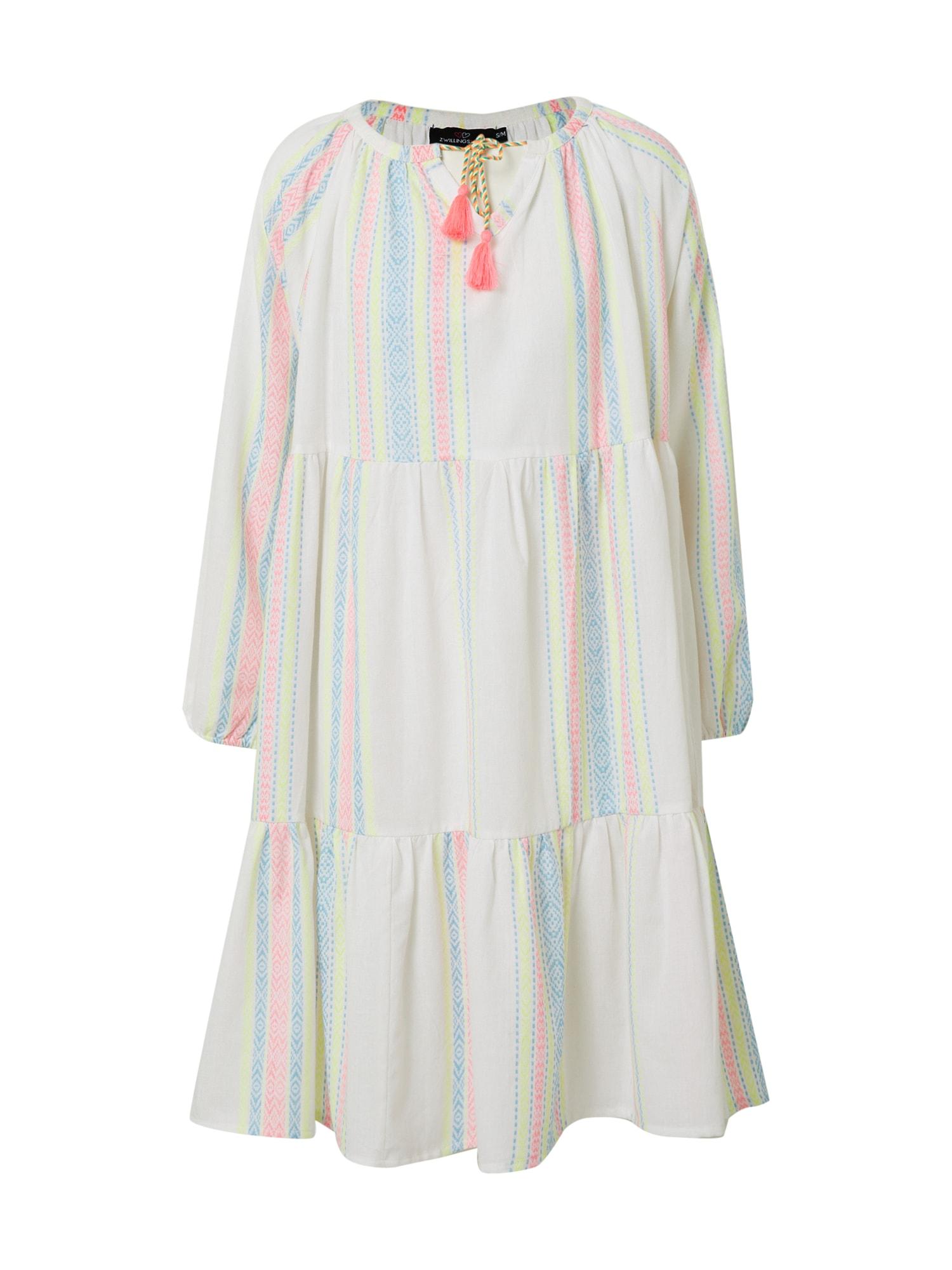 Zwillingsherz Vasarinė suknelė 'Amber' mišrios spalvos / balta
