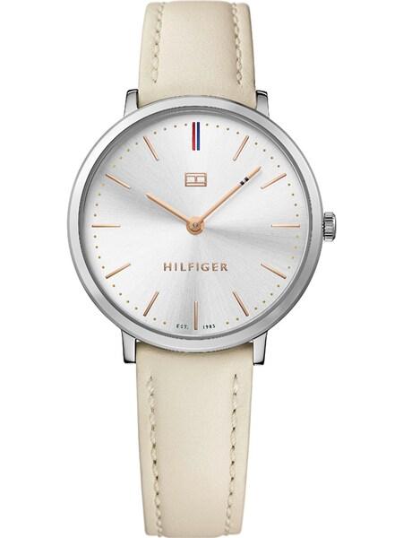 Uhren für Frauen - TOMMY HILFIGER Uhr 'Ultra Slim Multi Branded 1781691' beige silber  - Onlineshop ABOUT YOU