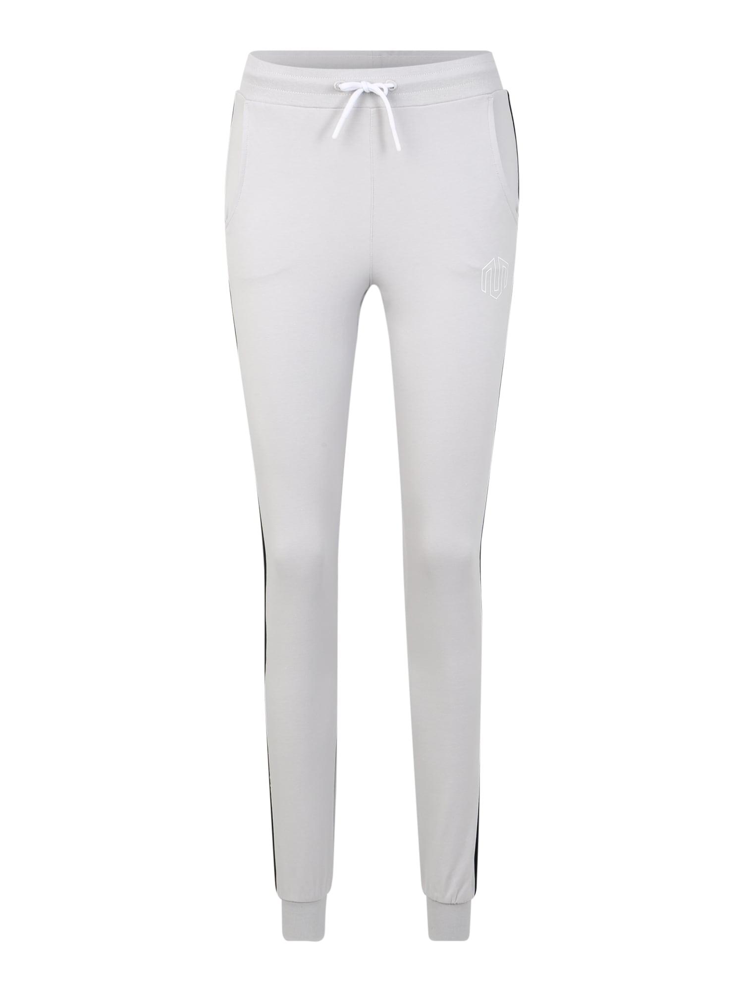 MOROTAI Sportinės kelnės 'Active Dry Jogger' pilka / balta / juoda