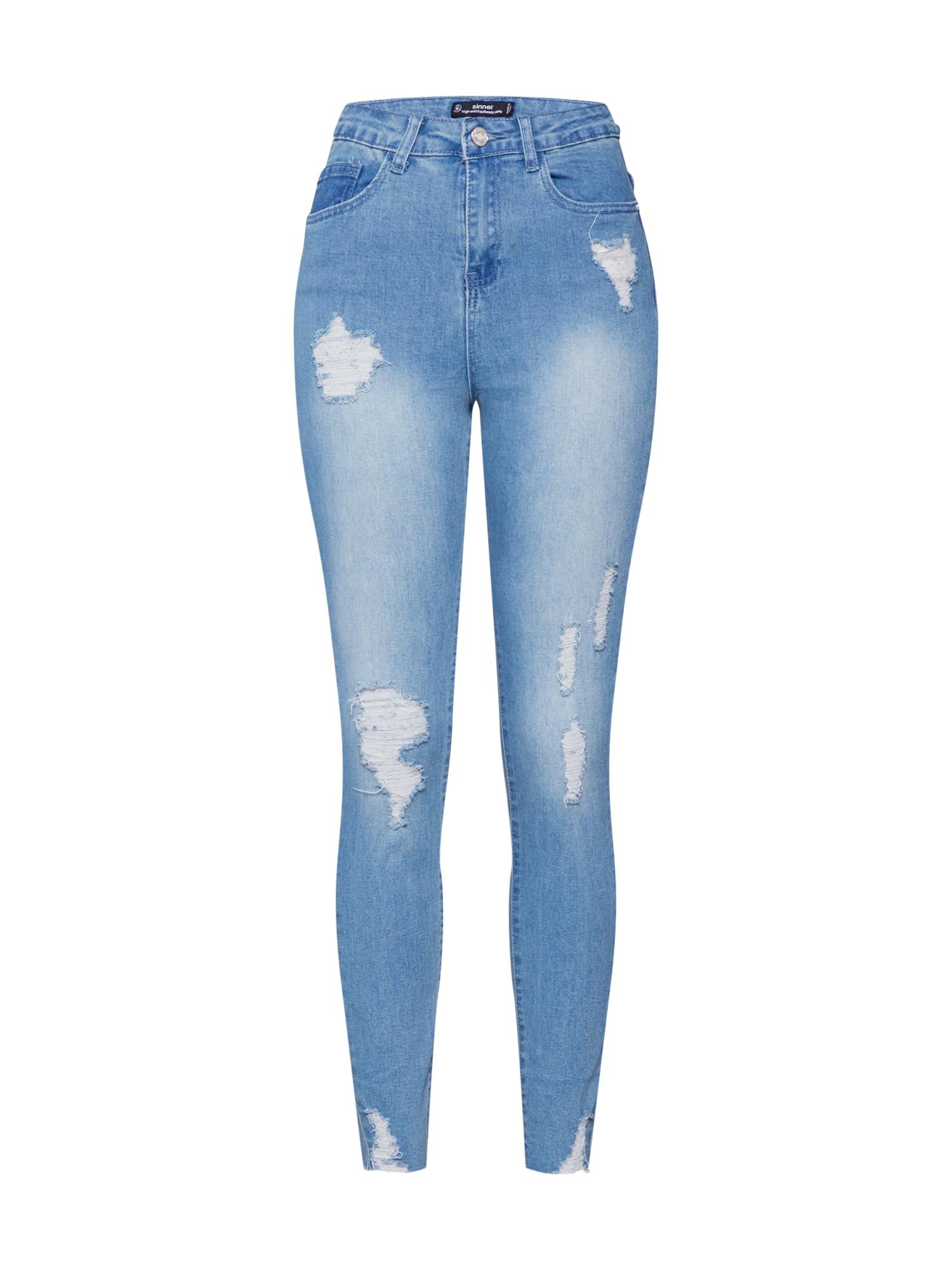 Missguided Džinsai tamsiai (džinso) mėlyna