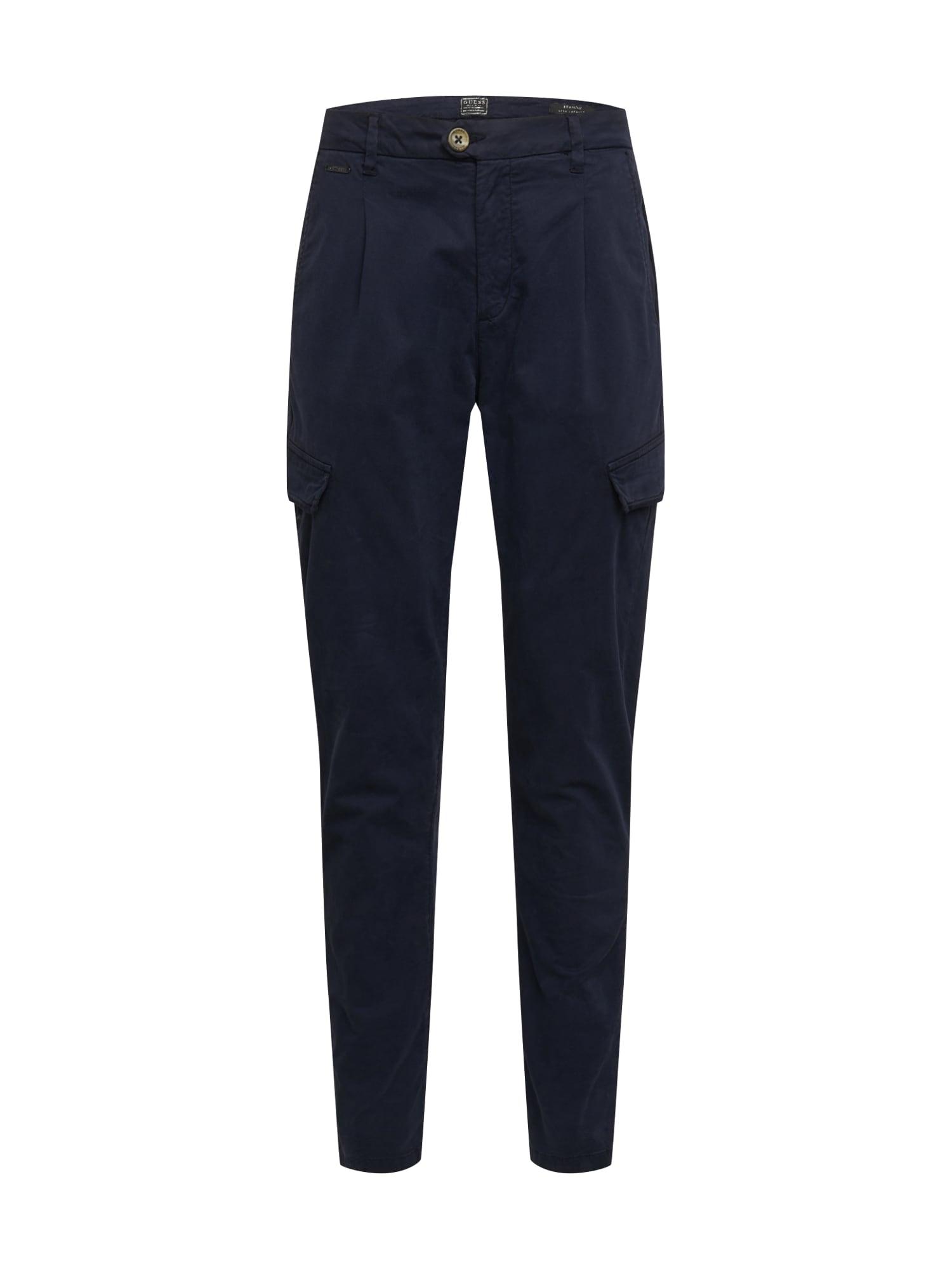 GUESS Plisované nohavice 'Brando'  námornícka modrá