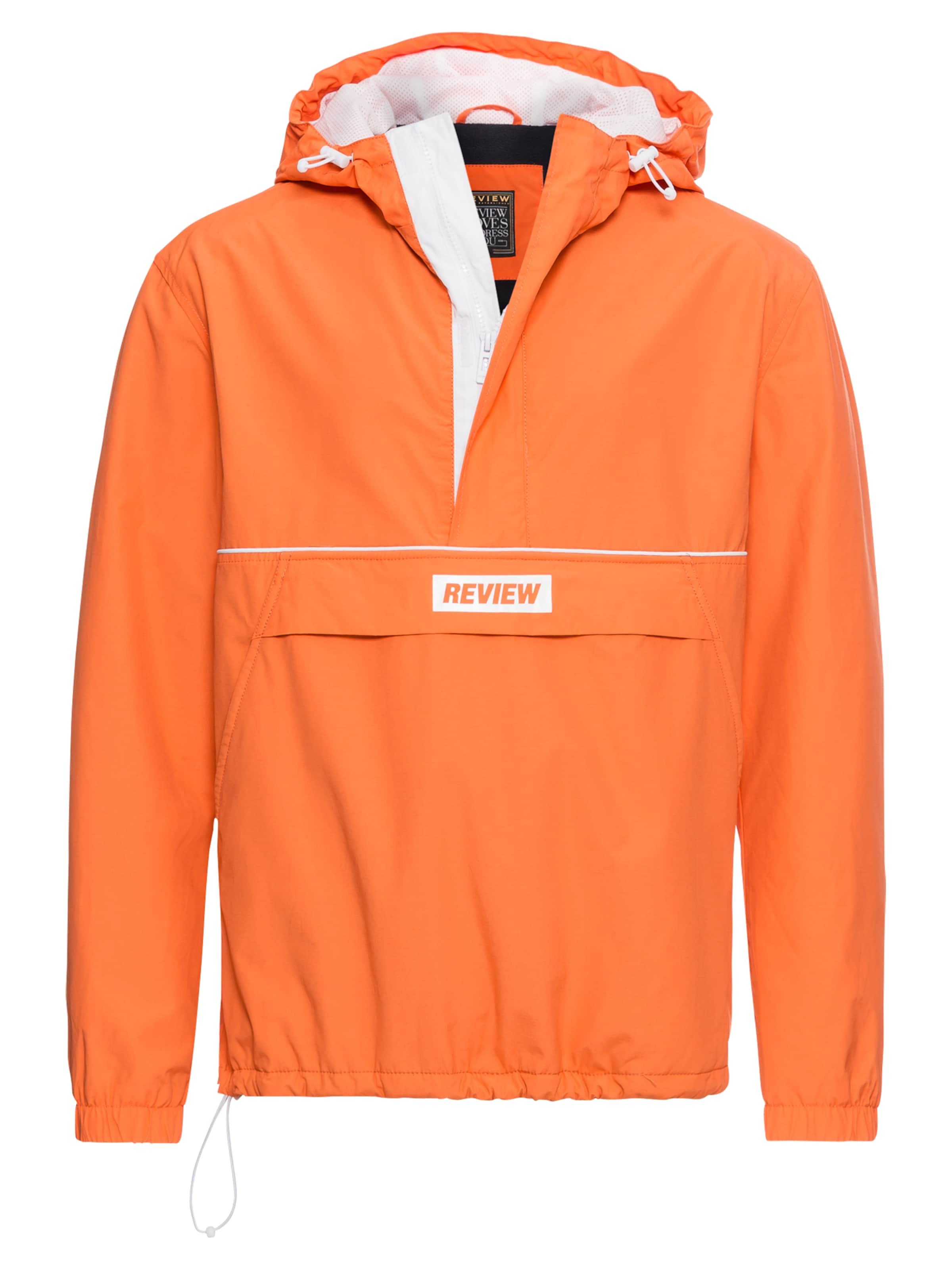 Review Herren Übergangsjacke WNDBRKR OVERHEAD orange | 04060479310358
