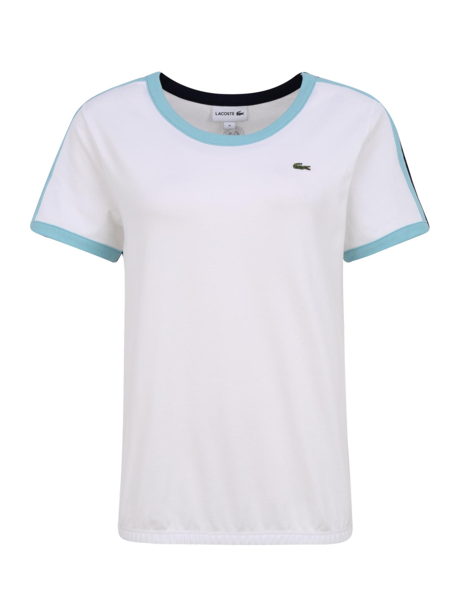 Lacoste Sport Sportiniai marškinėliai 'Tee' balta / mėlyna