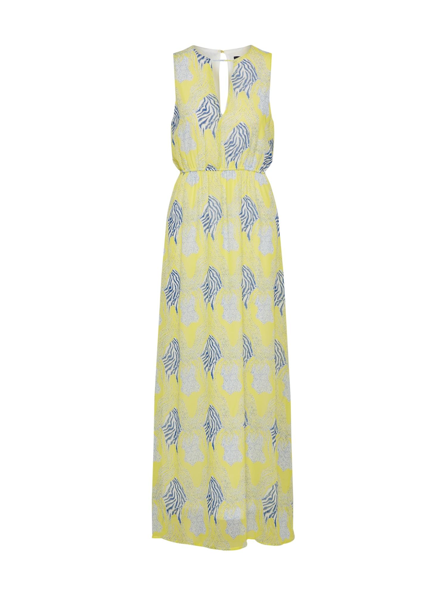 Letní šaty GUESS nebeská modř světle žlutá bílá SISTERS POINT