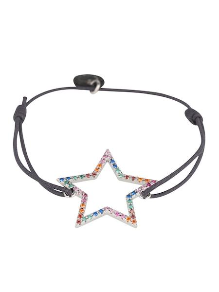 Armbaender für Frauen - Lua Accessories Armband 'Rainbow Star' grau mischfarben  - Onlineshop ABOUT YOU