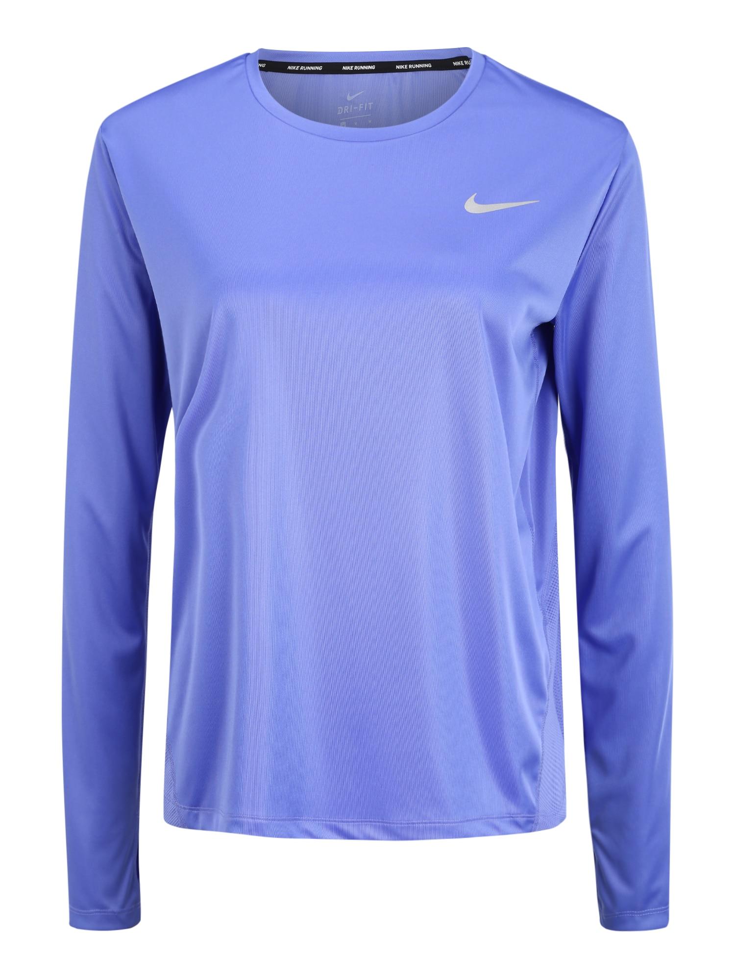 NIKE Funkčné tričko 'W NK MILER TOP LS'  levanduľová