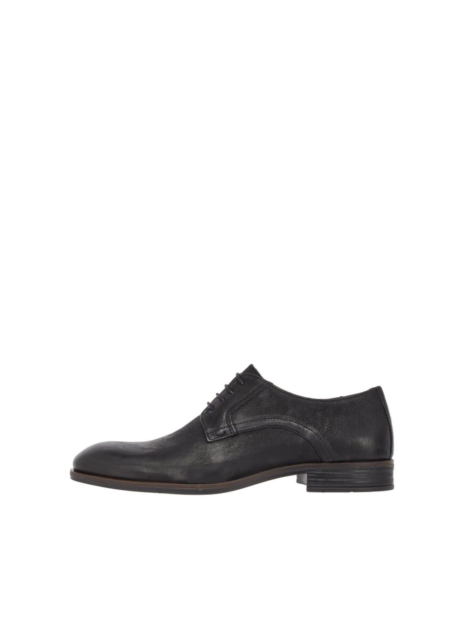 Šněrovací boty černá Bianco
