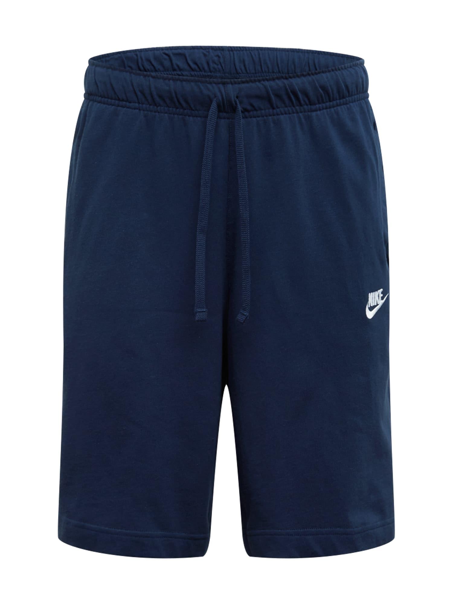 Nike Sportswear Kelnės tamsiai mėlyna jūros spalva / balta