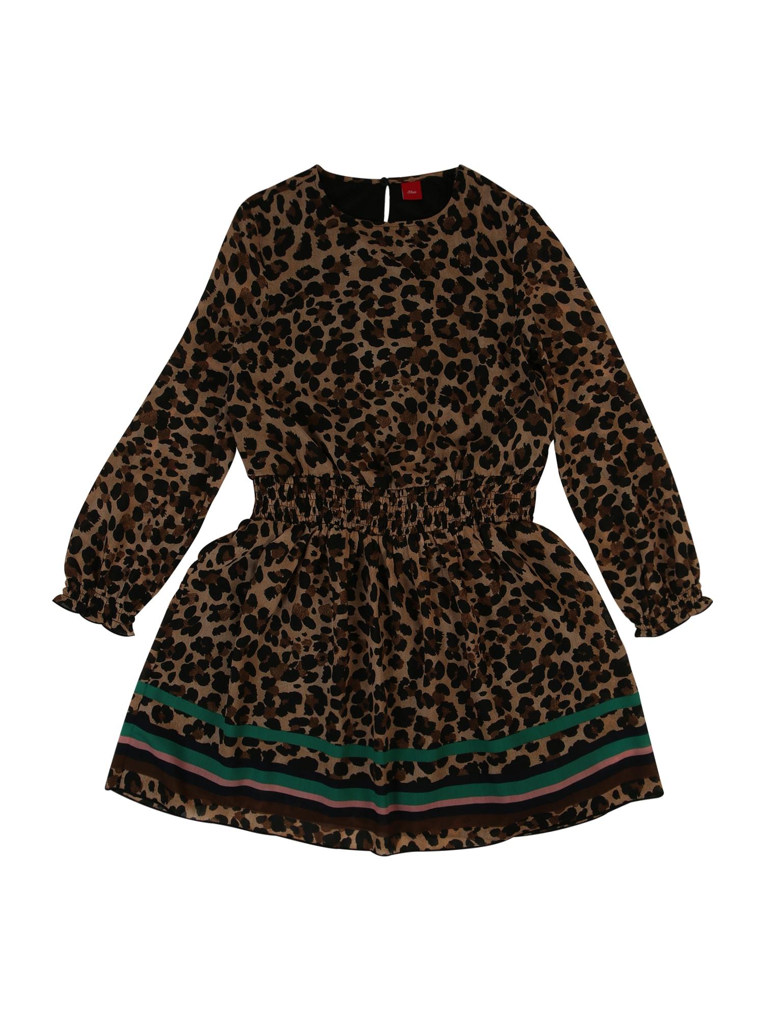 s.Oliver Junior Šaty  pieskový / čierna