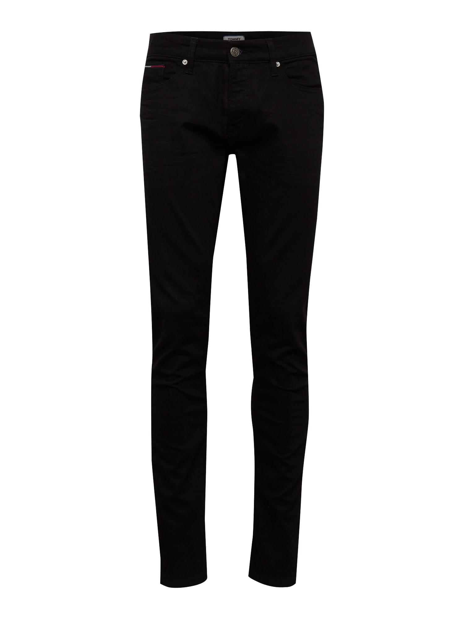 Tommy Jeans Džinsai 'Slim Scanton BLCO' juodo džinso spalva