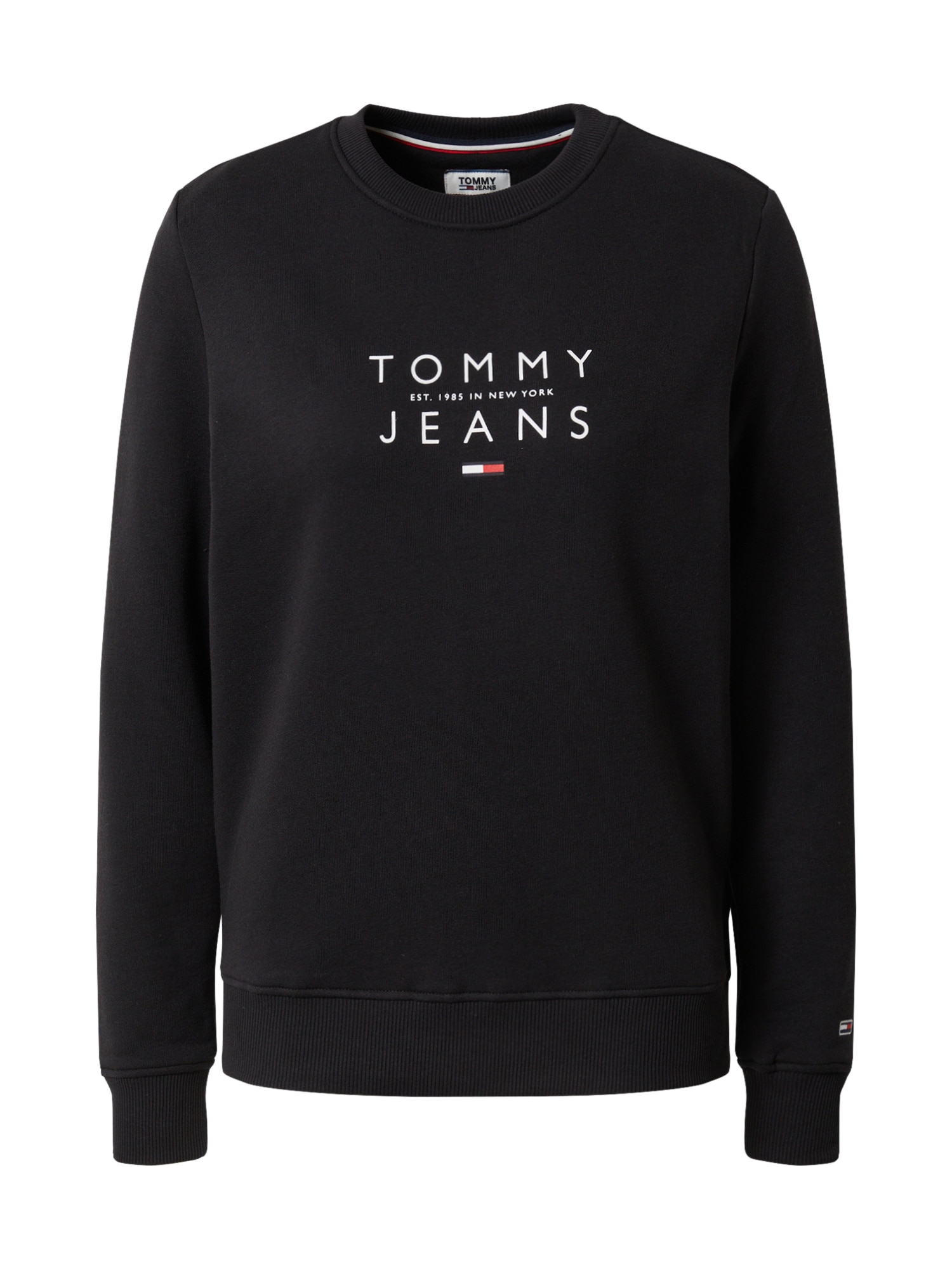 Tommy Jeans Mikina 'TJW ESSENTIAL LOGO SWEATSHIR'  čierna