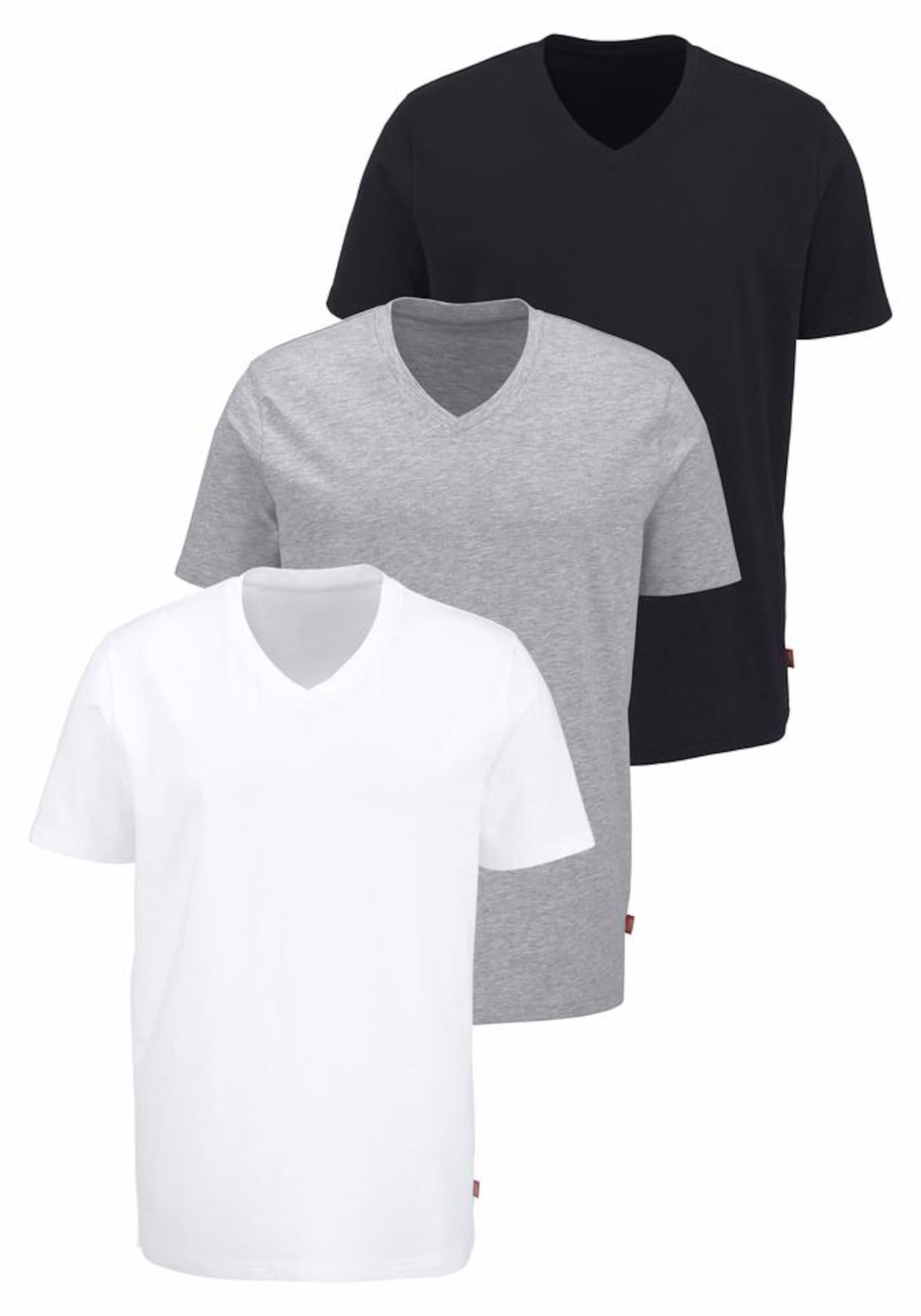 BRUNO BANANI Marškinėliai margai pilka / juoda / balta