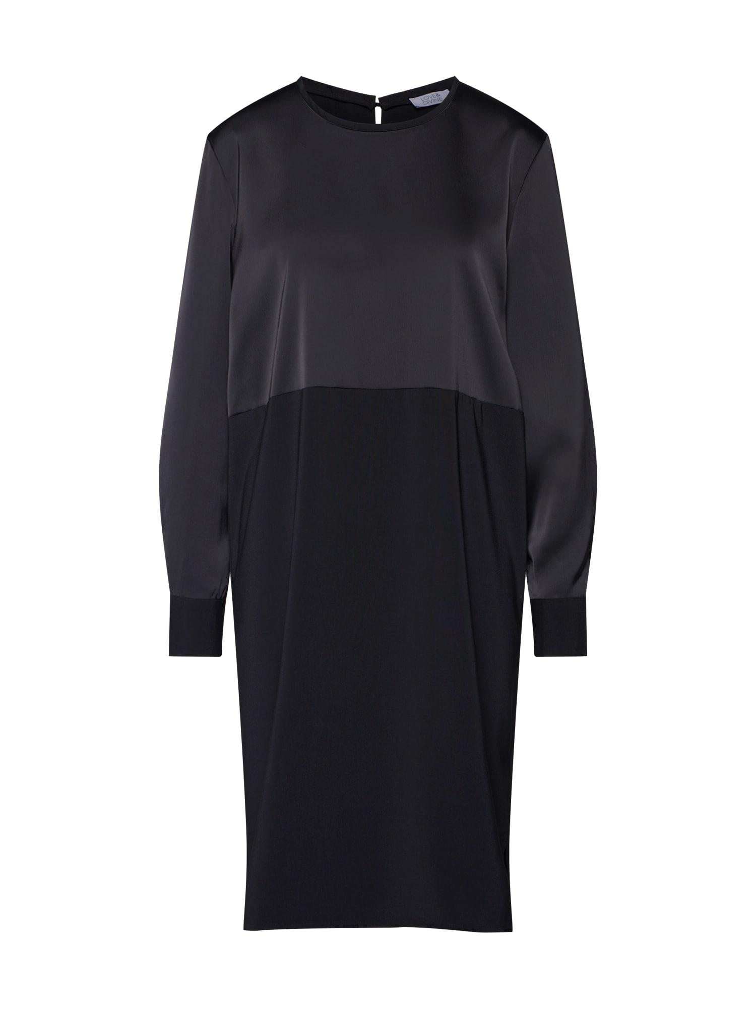 Košilové šaty Love271 černá Love & Divine