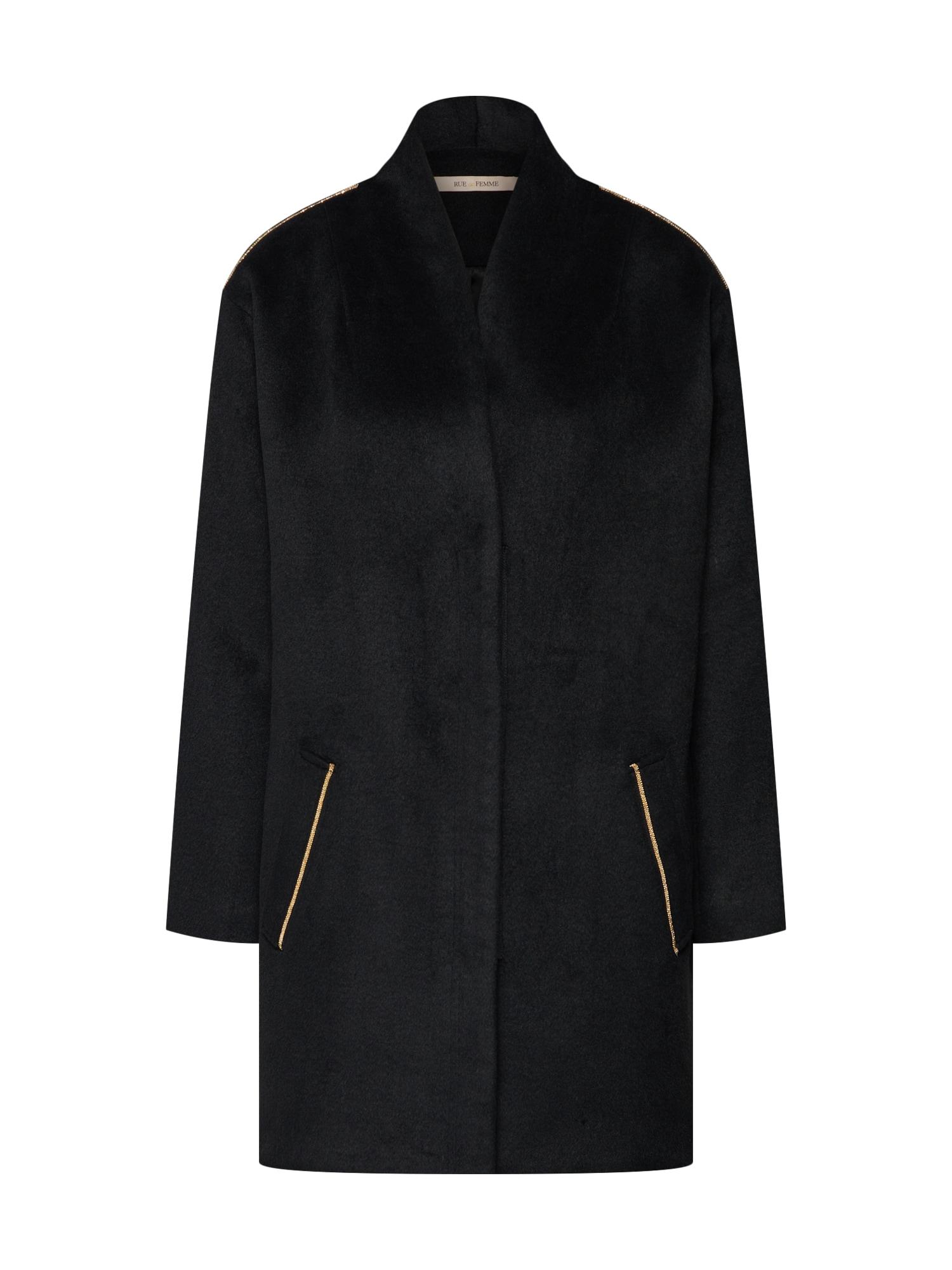 Přechodný kabát černá RUE De FEMME