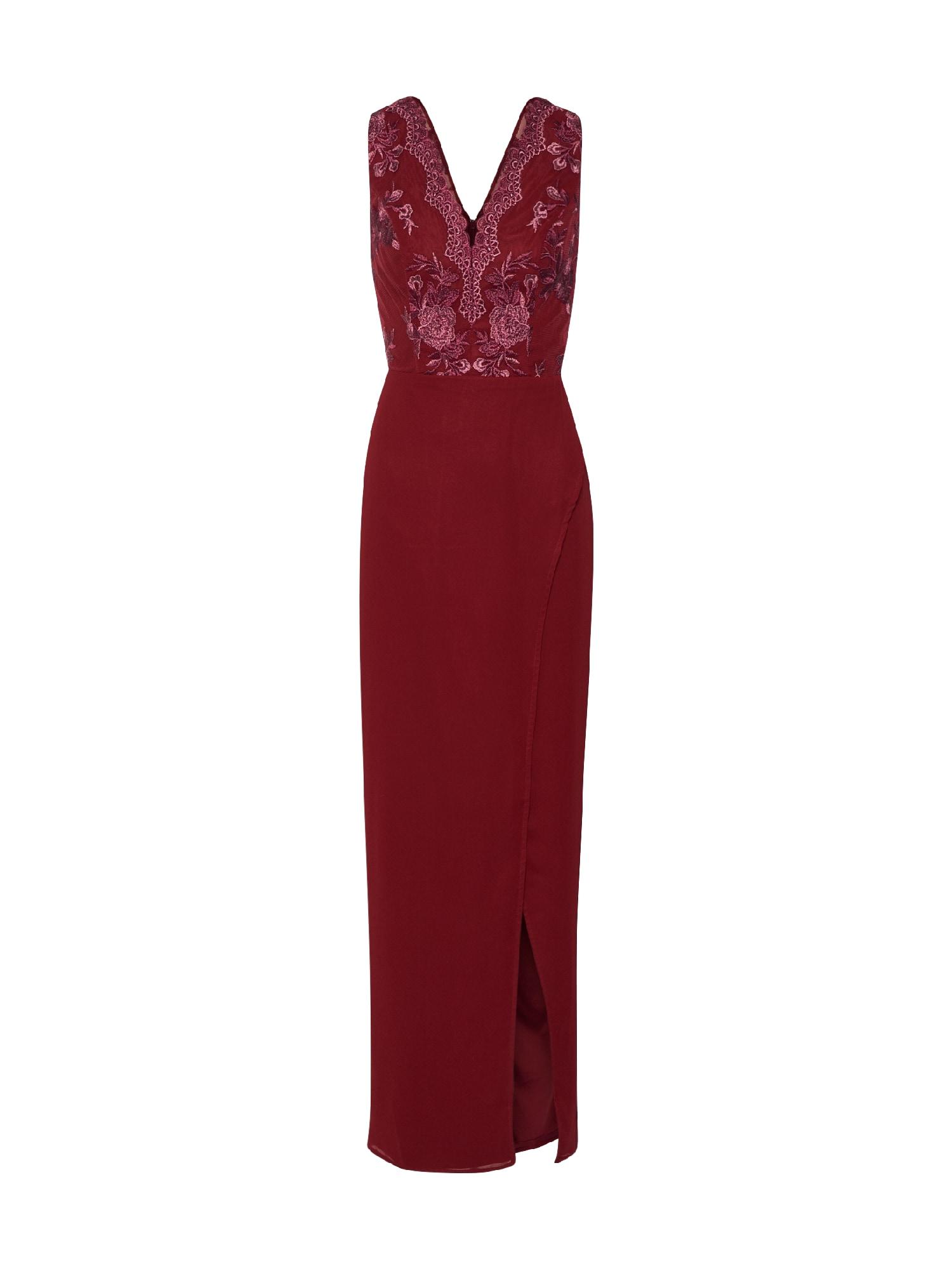 Chi Chi London Vakarinė suknelė 'Chi Chi Thalia Dress' burgundiško vyno spalva