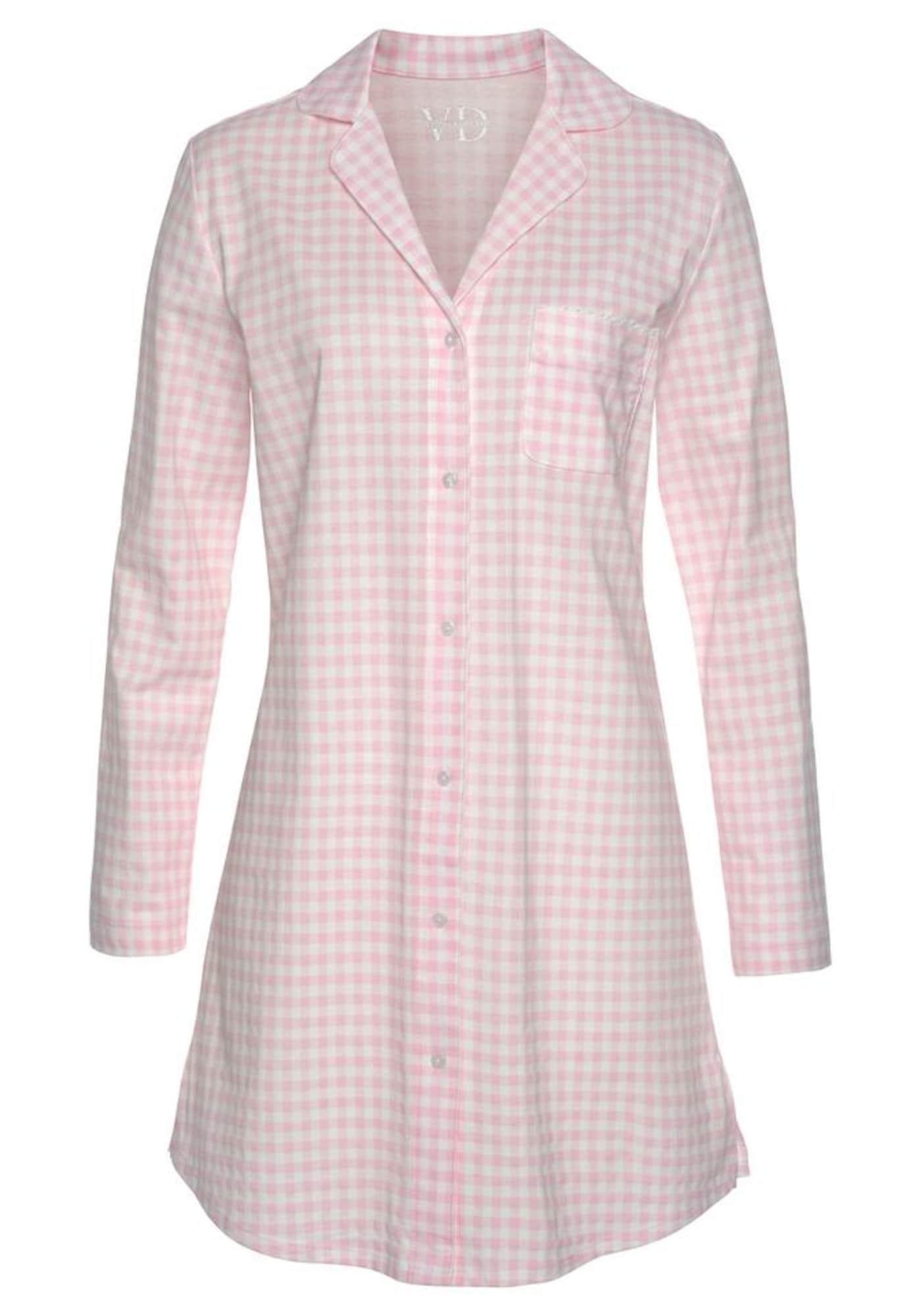 VIVANCE Noční košilka 'Dreams'  růžová / bílá