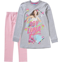 Disney Kinder,Mädchen Set Sweatkleid + Leggings grau | 04022158382971