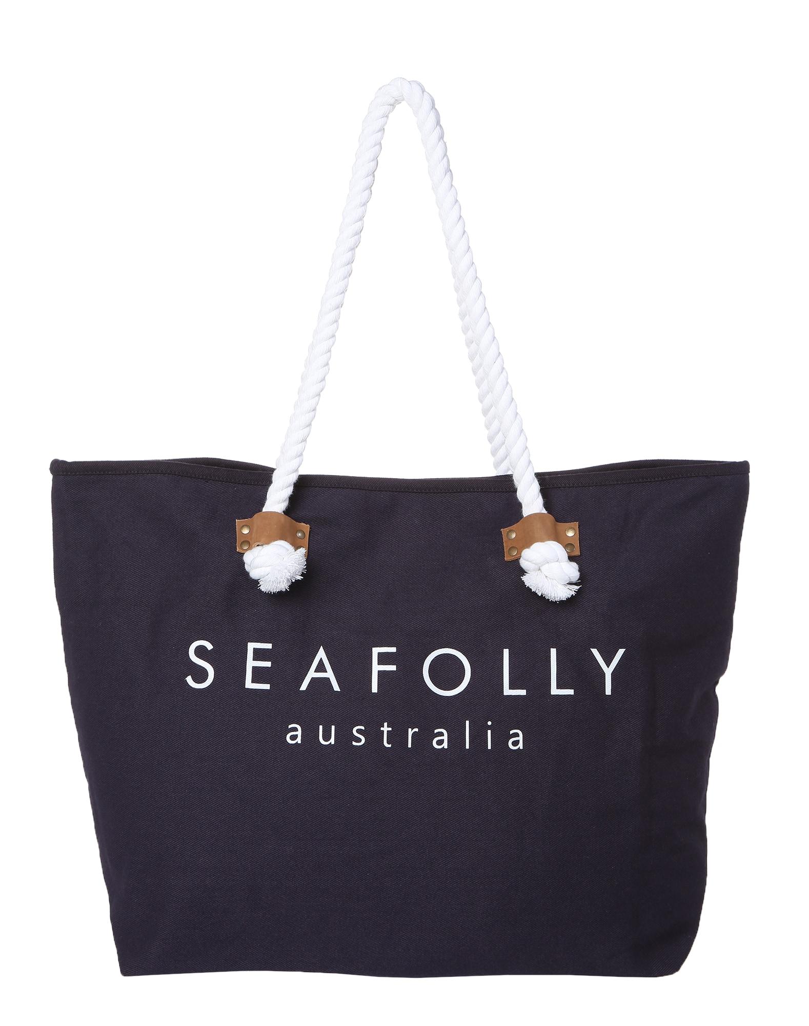 Seafolly Paplūdimio krepšys 'Ship Sail Tote' tamsiai mėlyna