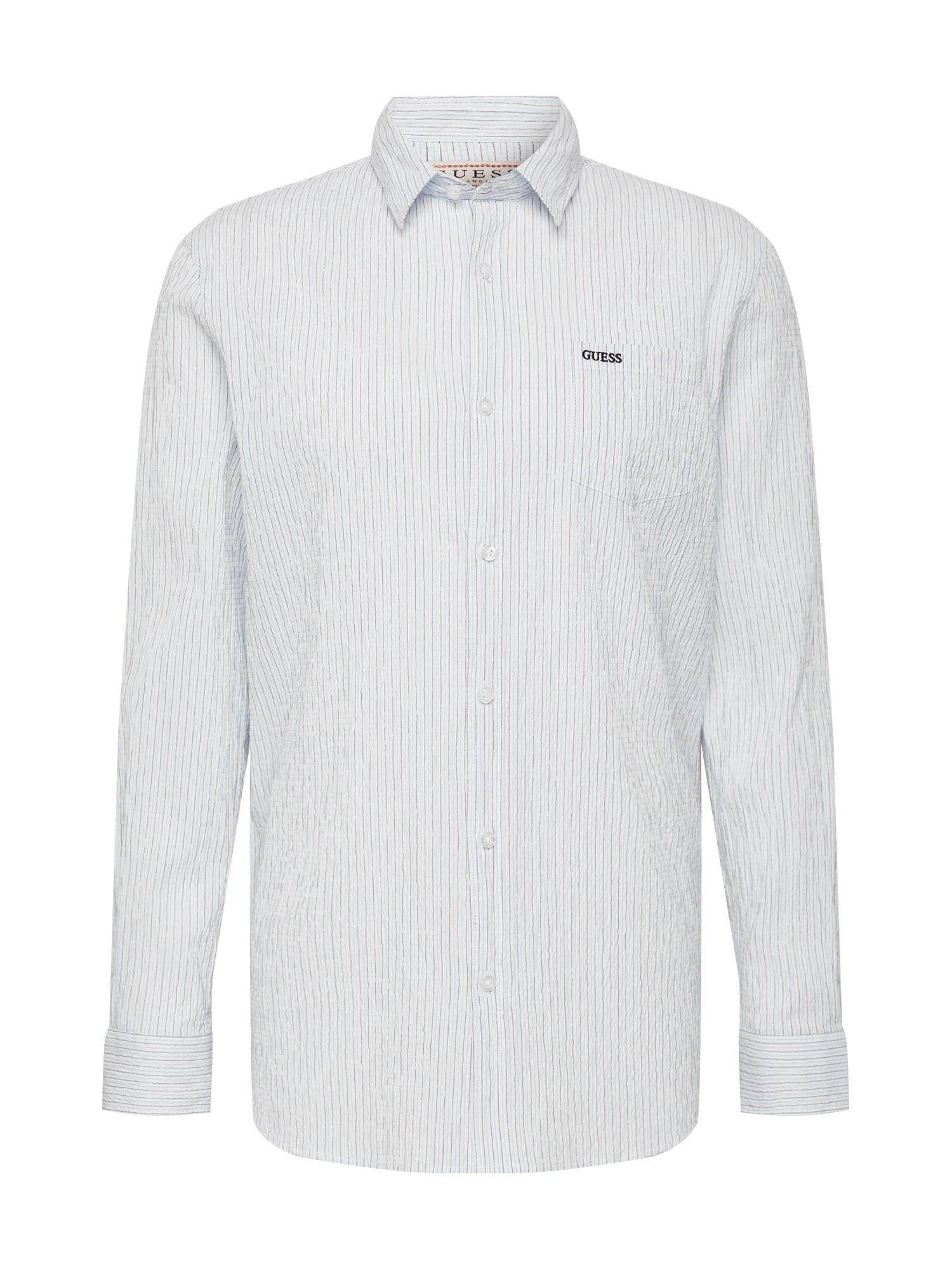 GUESS Košeľa  modré / biela