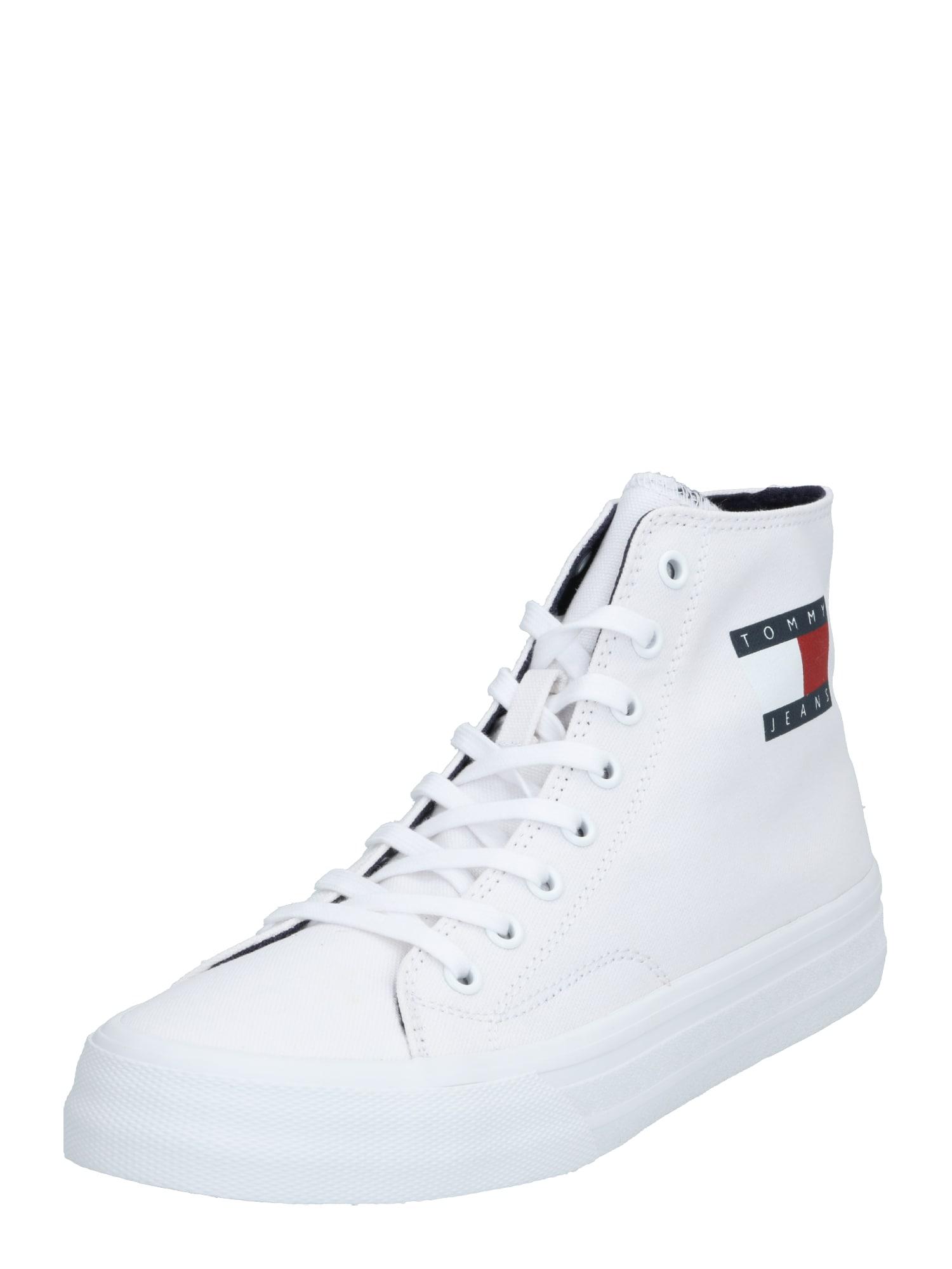 Tommy Jeans Kotníkové tenisky 'MIDCUT LACE UP VULC'  bílá