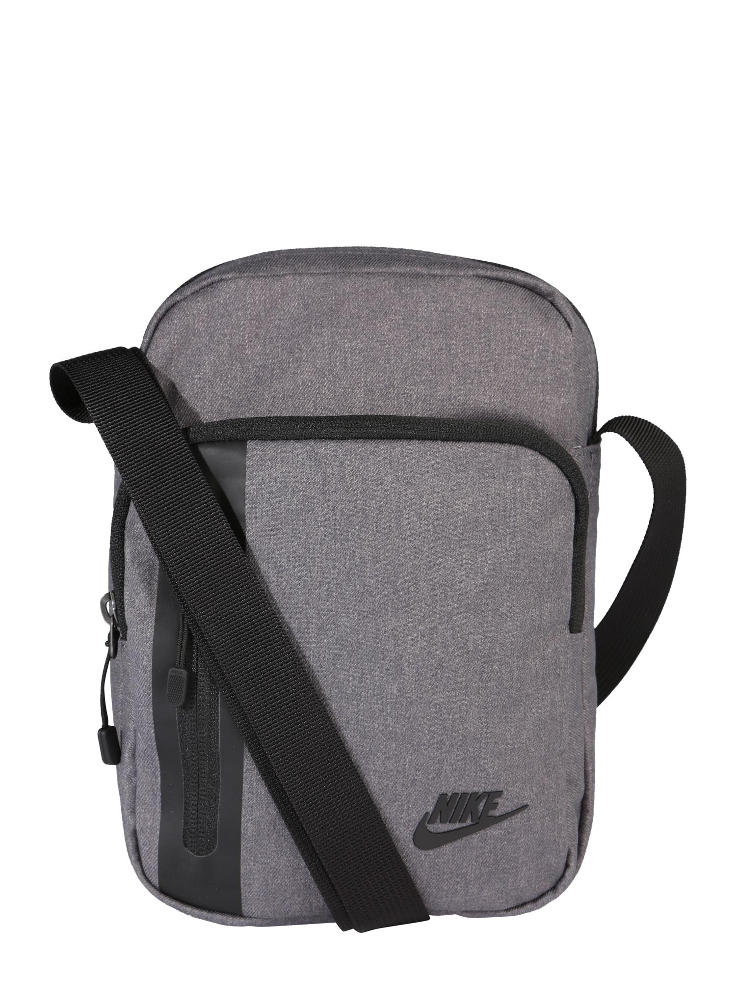 Nike Sportswear Rankinė su ilgu dirželiu juoda / pilka