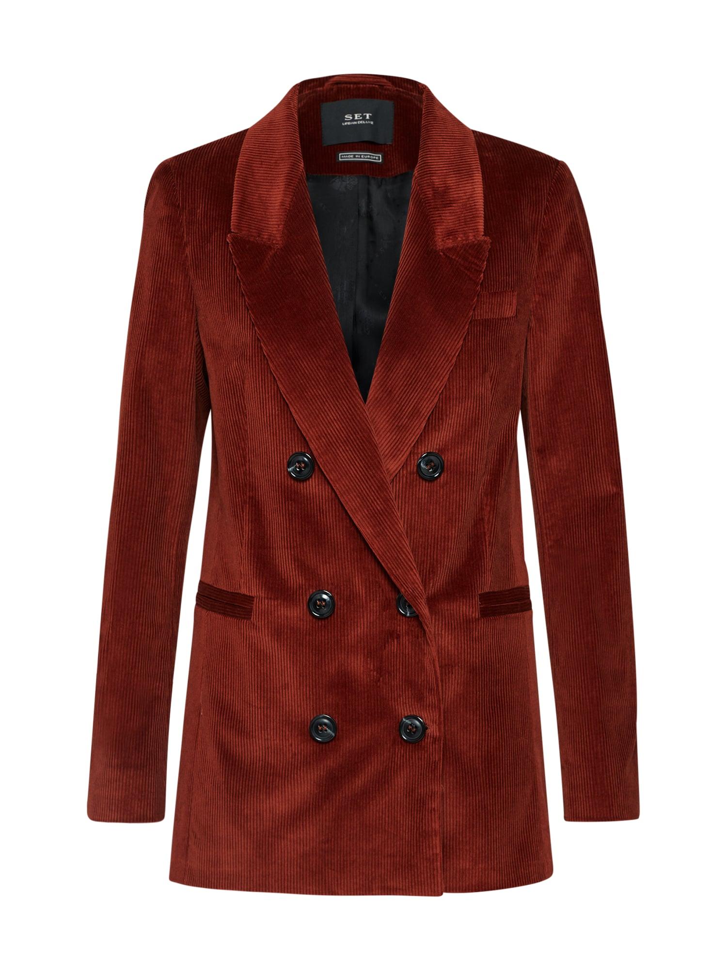 SET Blazer švarkas skaisti avietinė ar rubino spalva