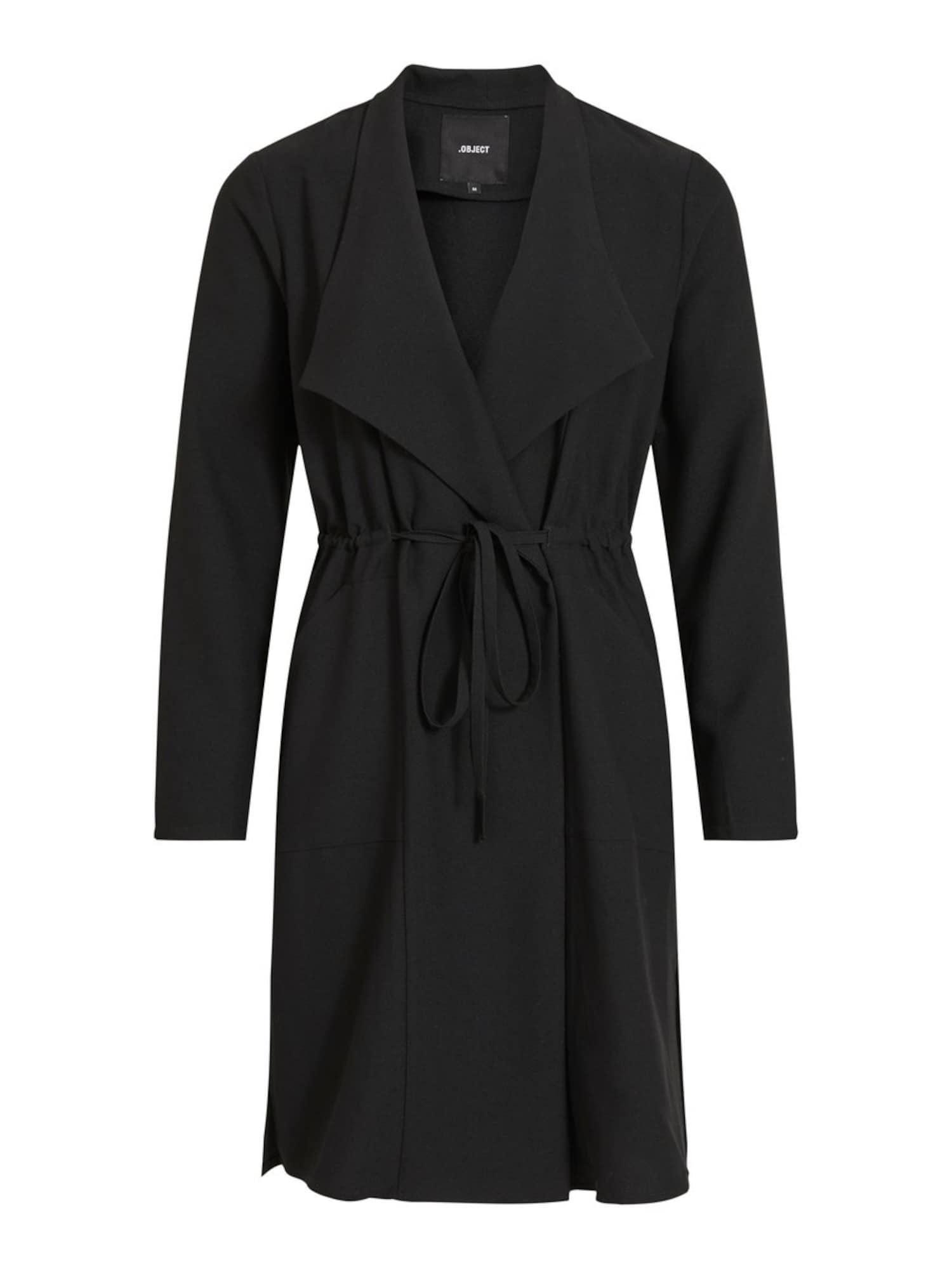 OBJECT Rudeninis-žieminis paltas juoda