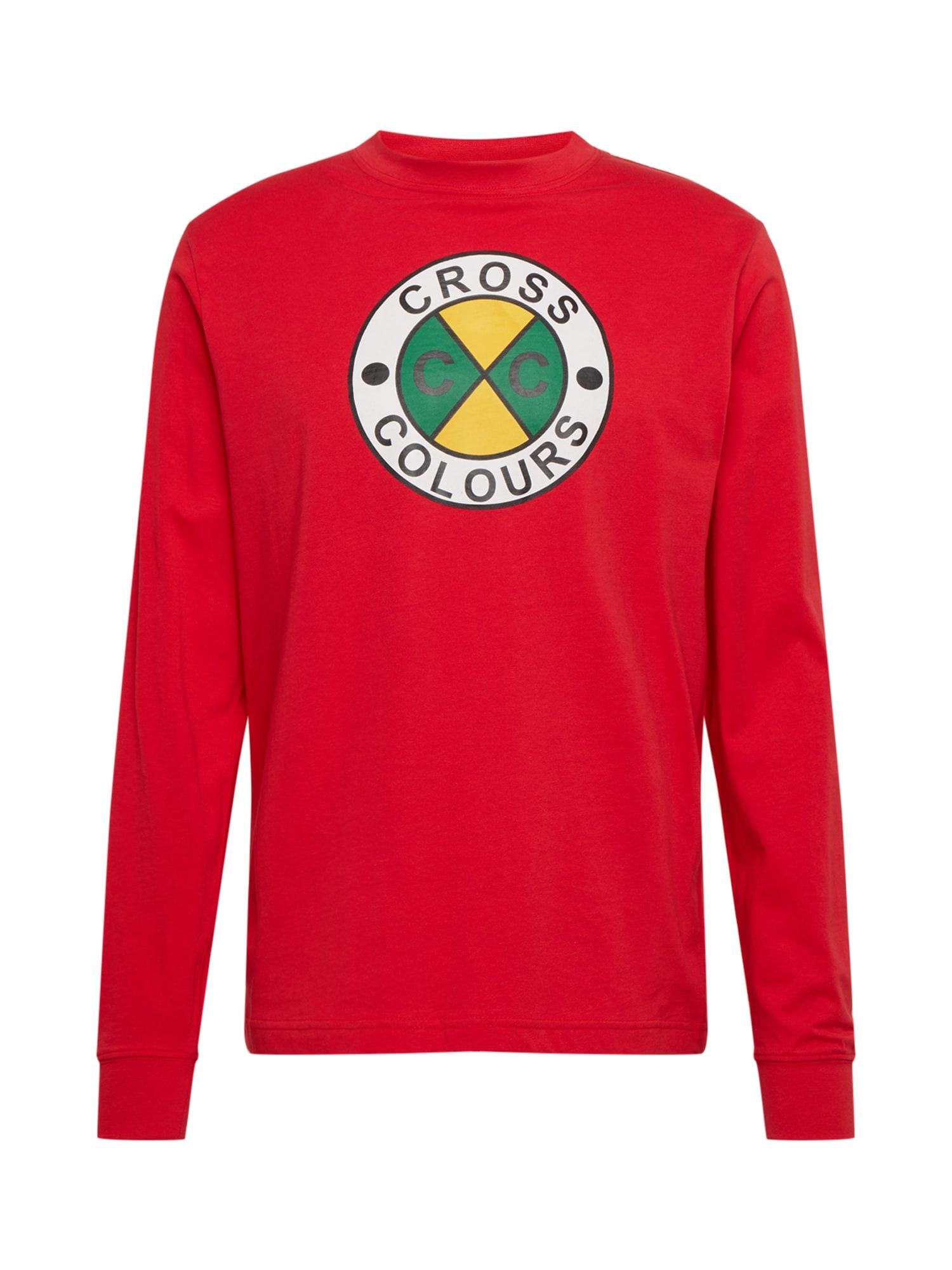 CROSS COLOURS Marškinėliai raudona / geltona / žalia