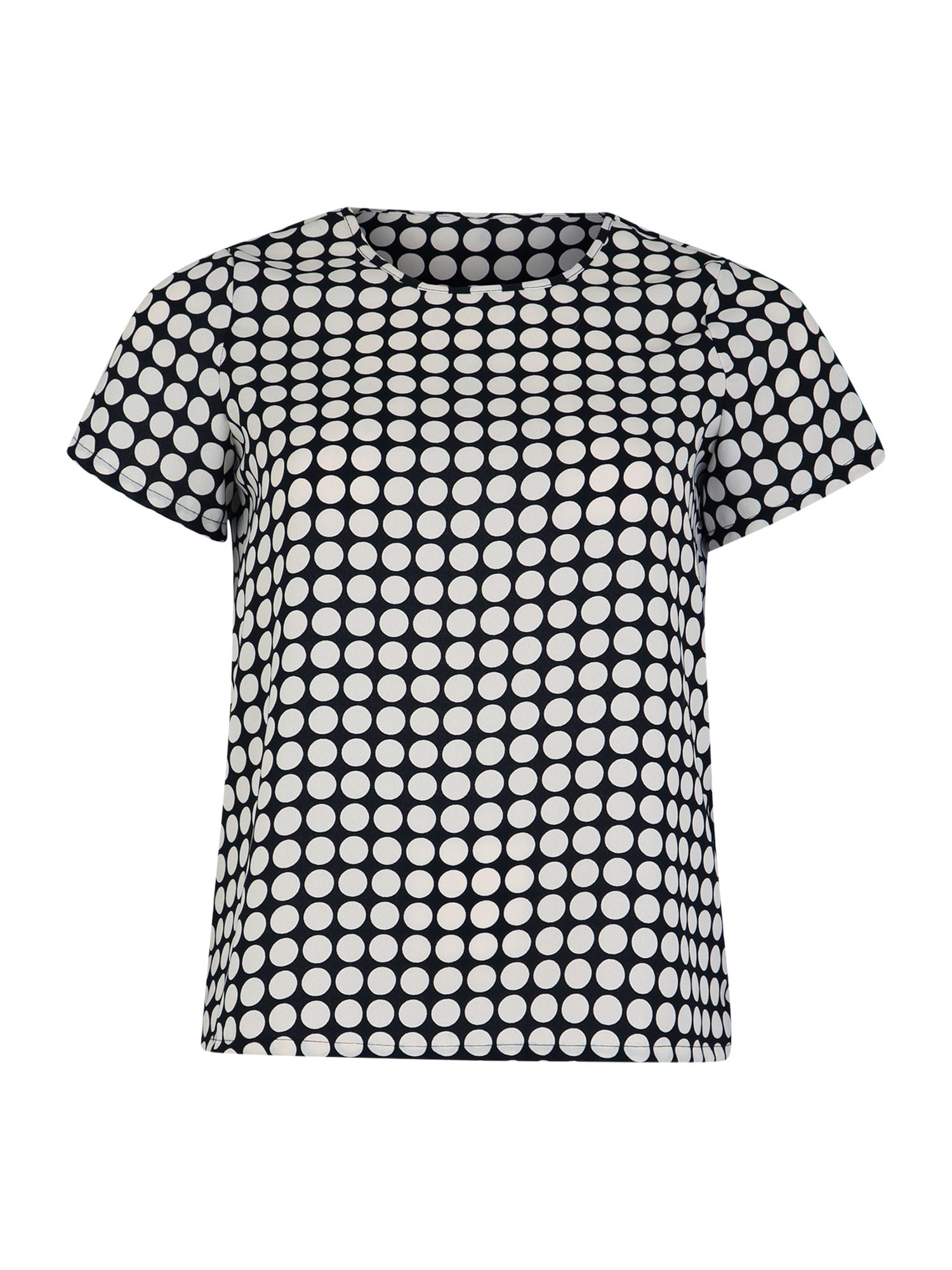 Tričko SARAH černá bílá Vero Moda Curve