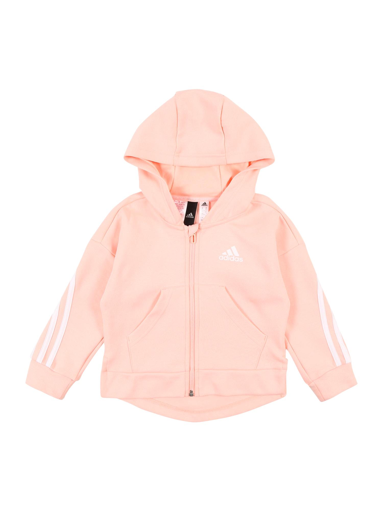 ADIDAS PERFORMANCE Sportinis džemperis balta / persikų spalva