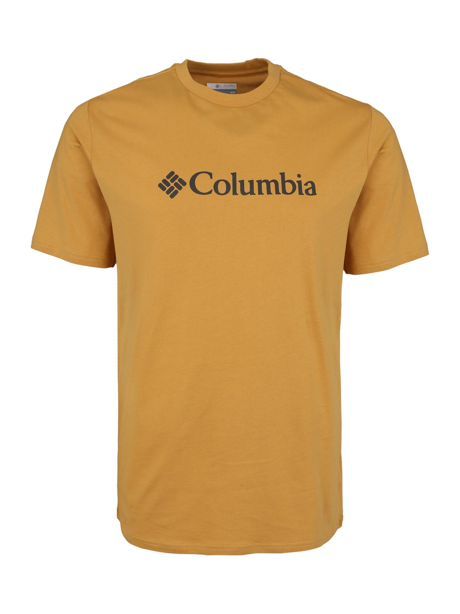 Funkční tričko hořčicová COLUMBIA