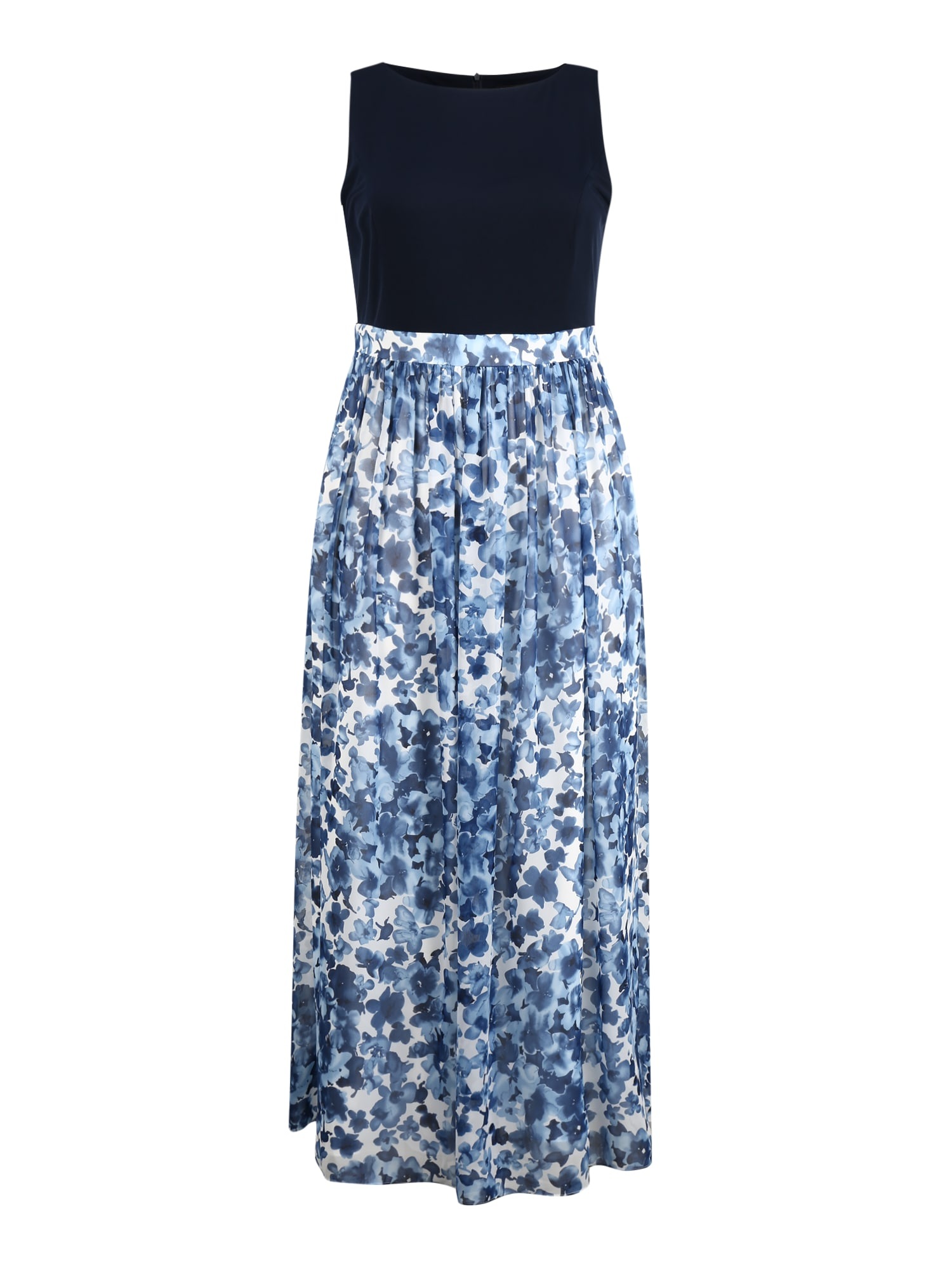 SWING Curve Suknelė kremo / tamsiai mėlyna jūros spalva