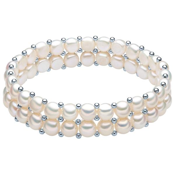 Armbaender für Frauen - Valero Pearls Armband mit Süßwasser Zuchtperlen und Sterlingsilber Zwischenkügelchen perlweiß  - Onlineshop ABOUT YOU