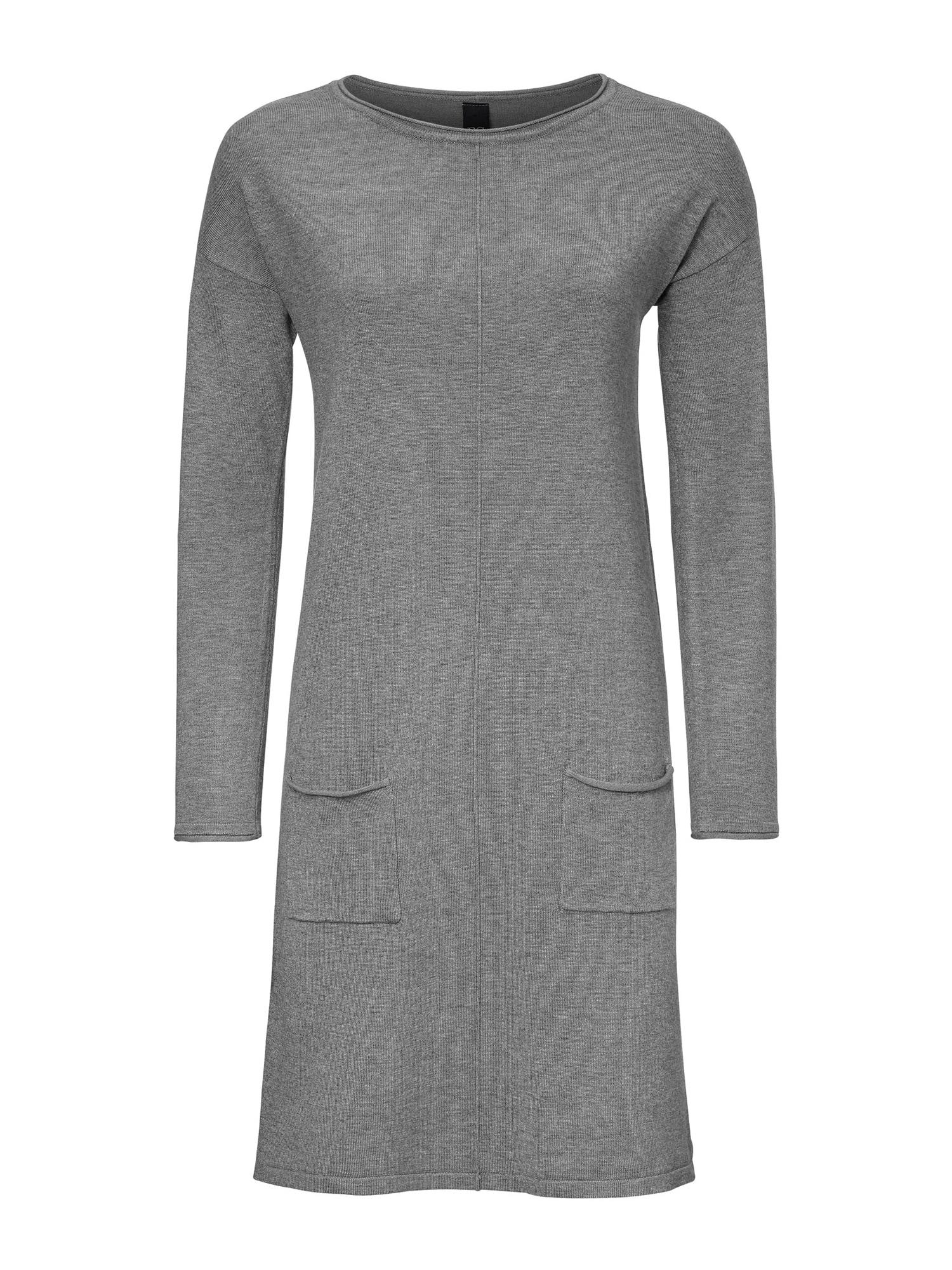 heine Úpletové šaty  šedý melír