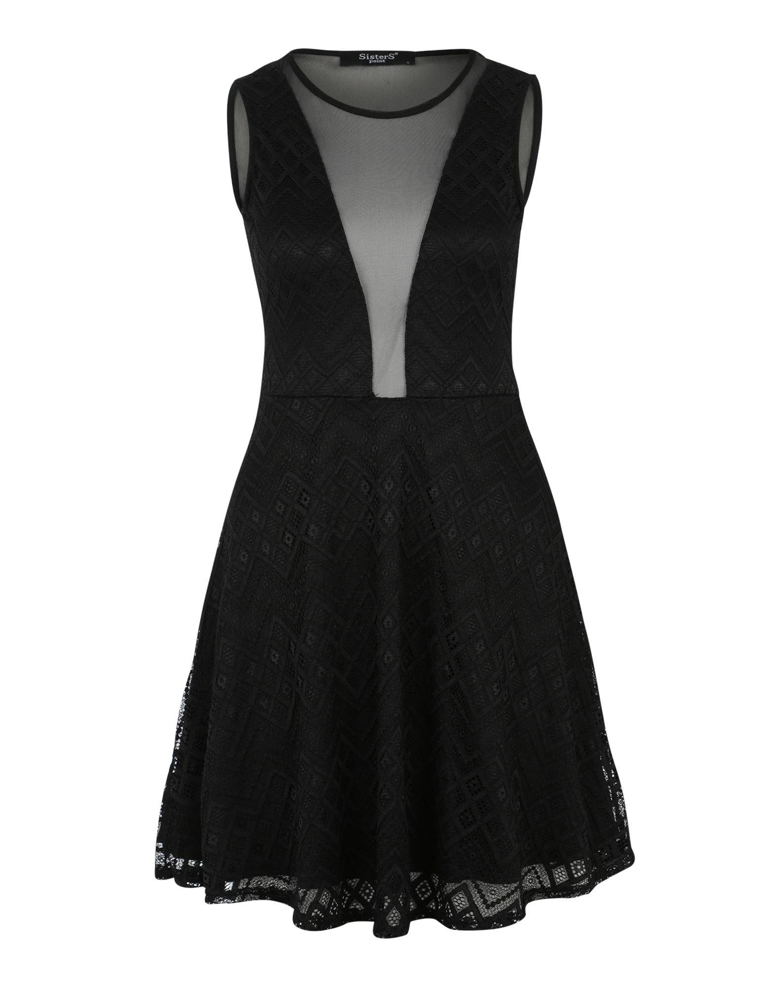 SISTERS POINT Kokteilinė suknelė 'Nando' juoda