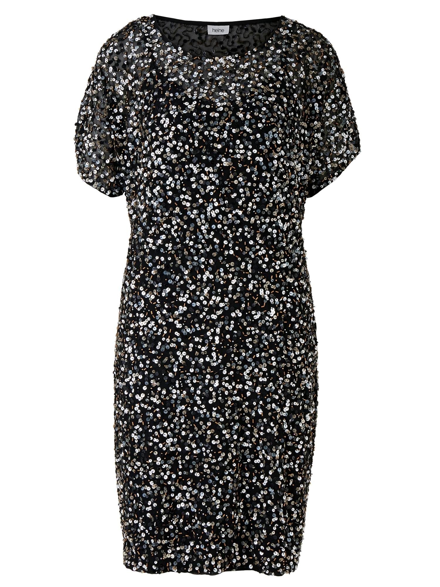 heine Kokteilové šaty  zmiešané farby / čierna