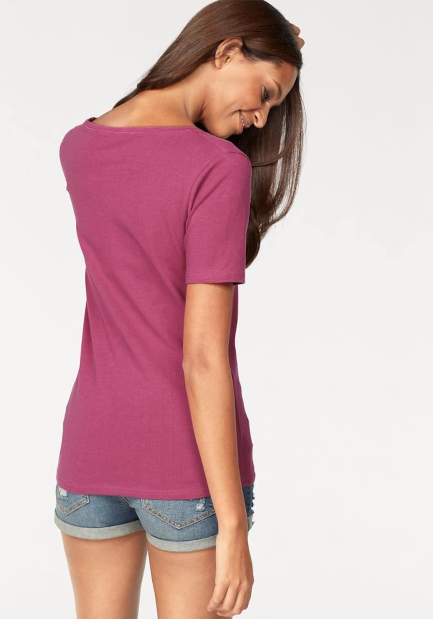 VIVANCE Marškinėliai tamsiai mėlyna jūros spalva / tamsiai rožinė