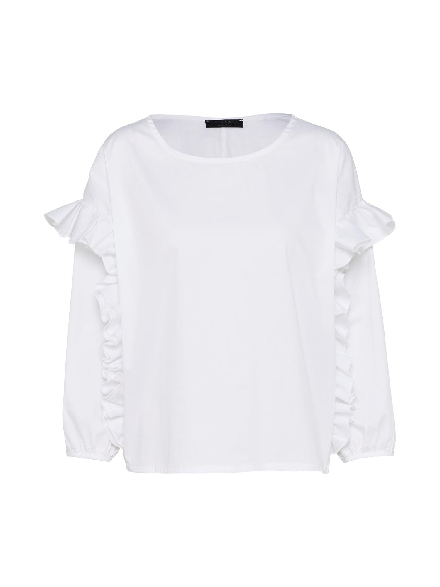 Tričko shirt offwhite PLEASE