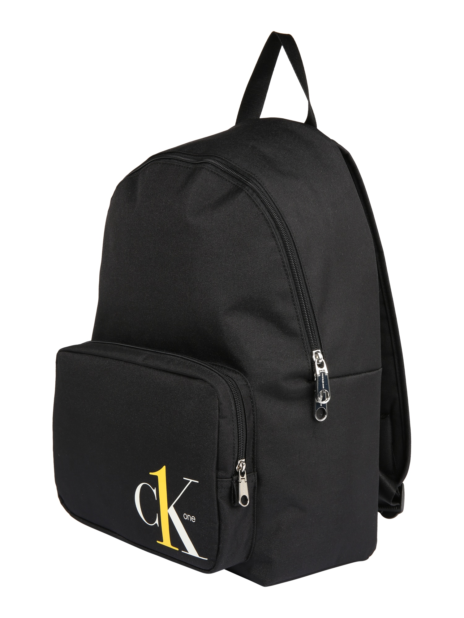 Calvin Klein Jeans Kuprinė 'CK1 CAMPUS BP45' balta / juoda / geltona