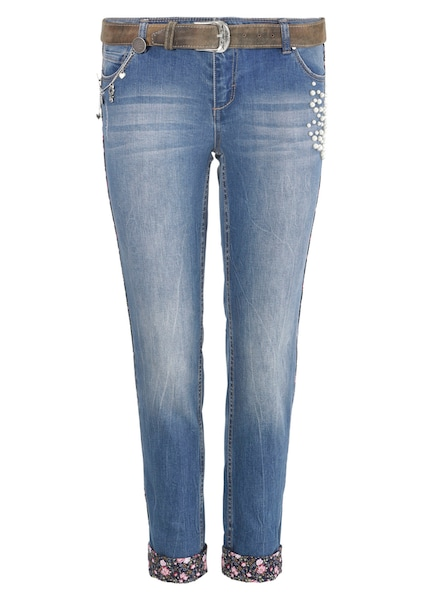 Hosen - Trachtenjeans › MARJO › blue denim  - Onlineshop ABOUT YOU
