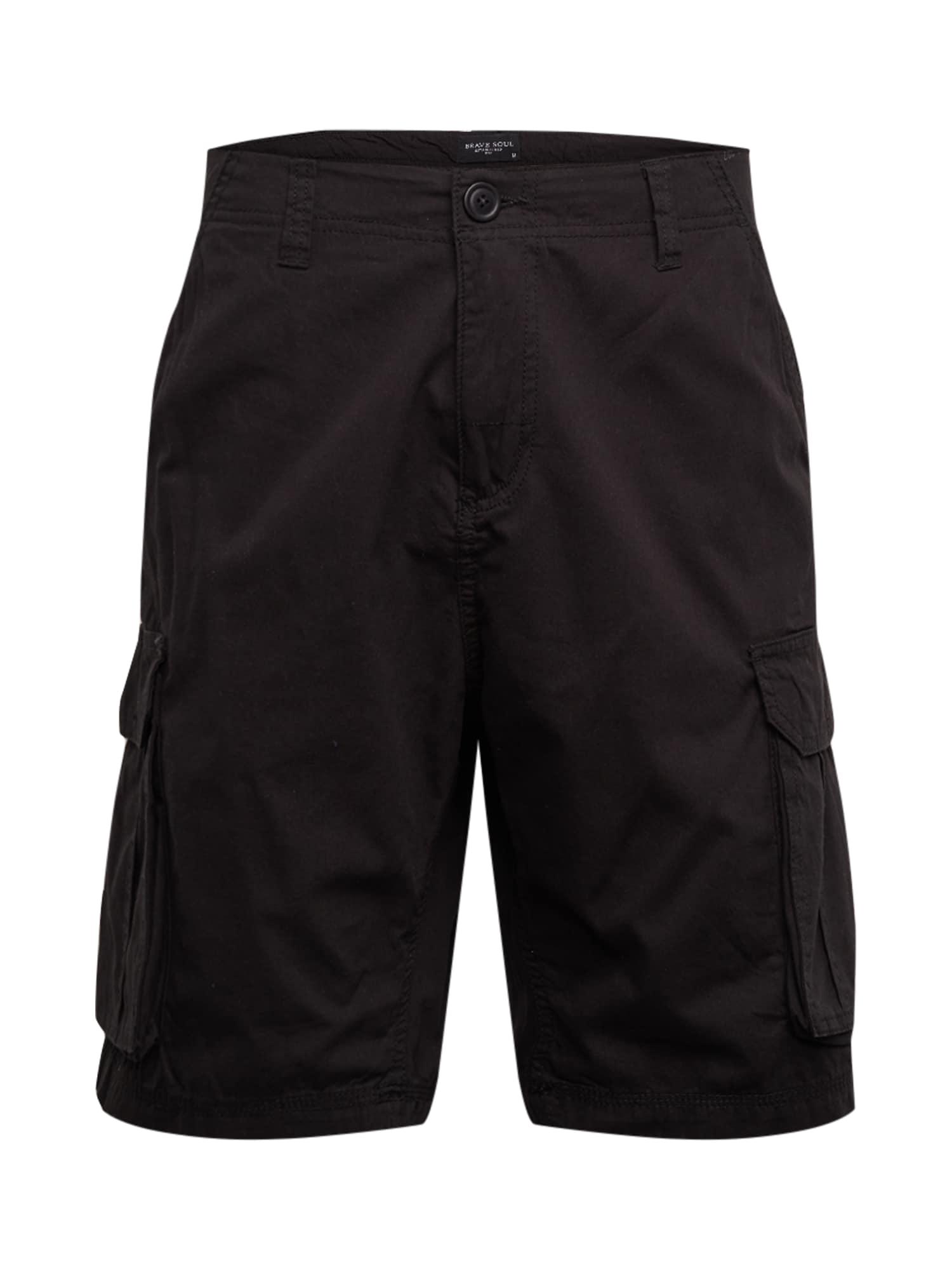 BRAVE SOUL Laisvo stiliaus kelnės 'MSRT-RIVERWOPKA' juoda