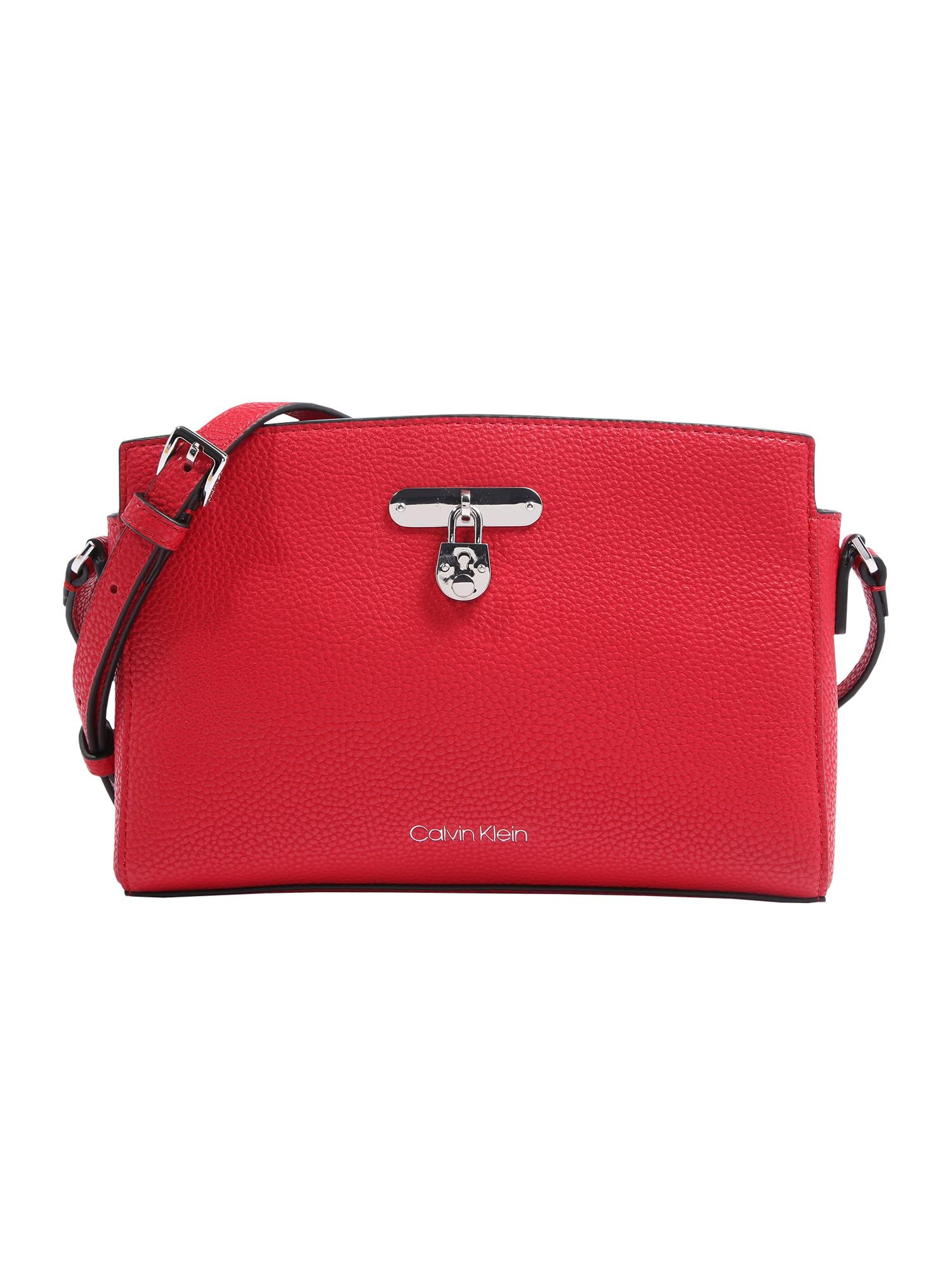 Calvin Klein Rankinė su ilgu dirželiu raudona