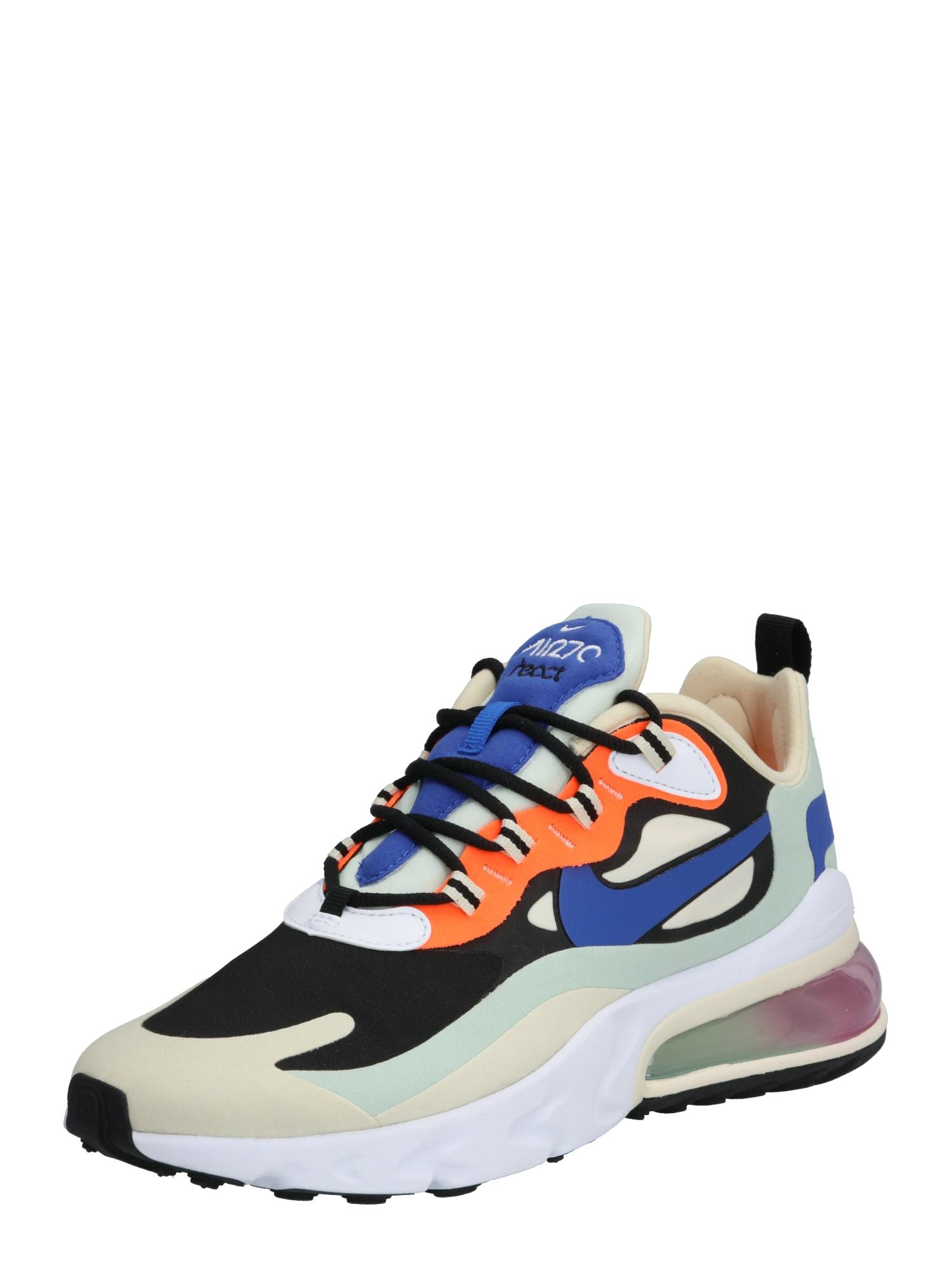 NIKE Sportiniai batai 'Air Max 270 React' oranžinė / mėtų spalva / balta / juoda