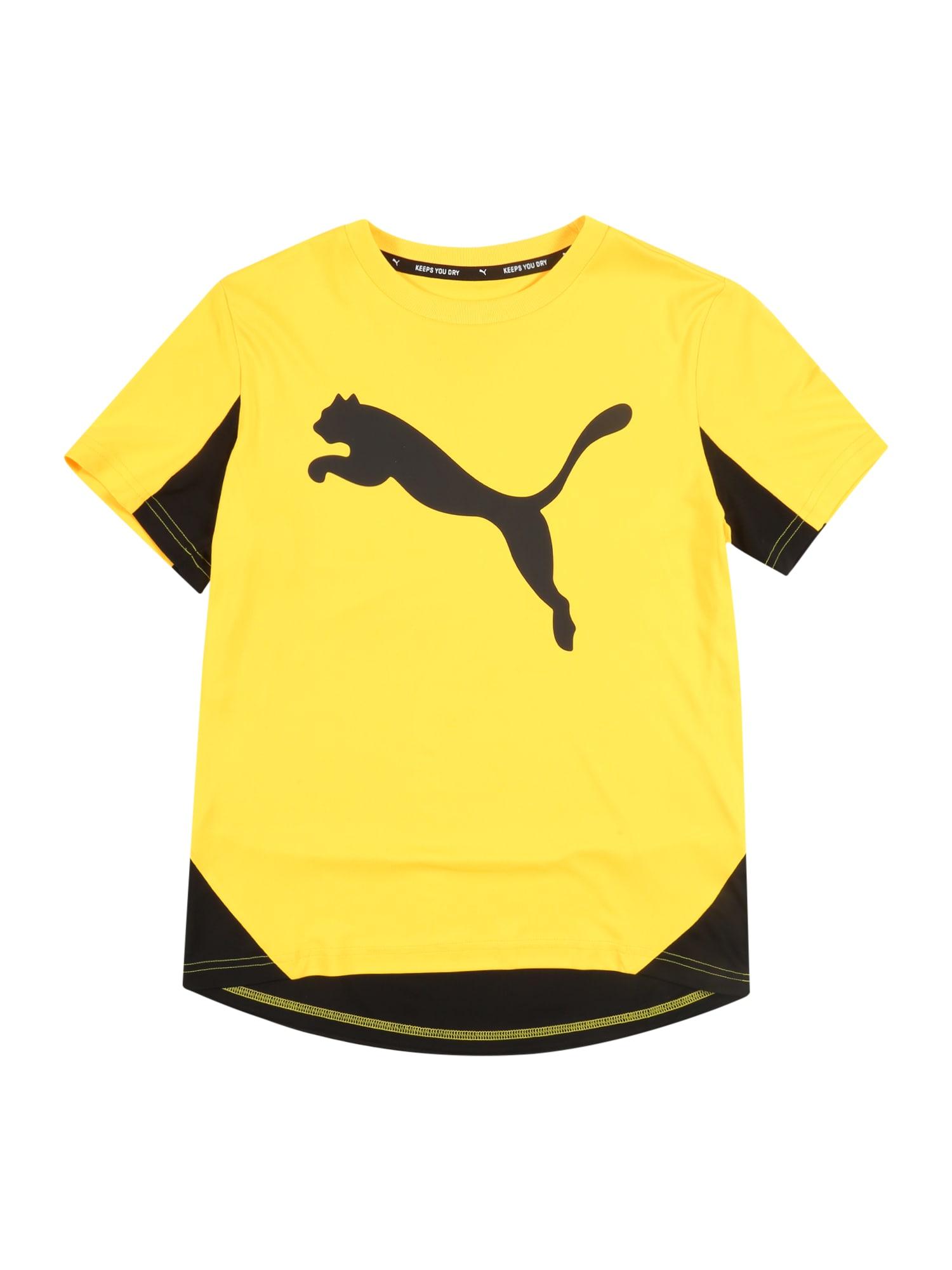 PUMA Funkčné tričko 'Active Sports Cat Graphic'  žlté