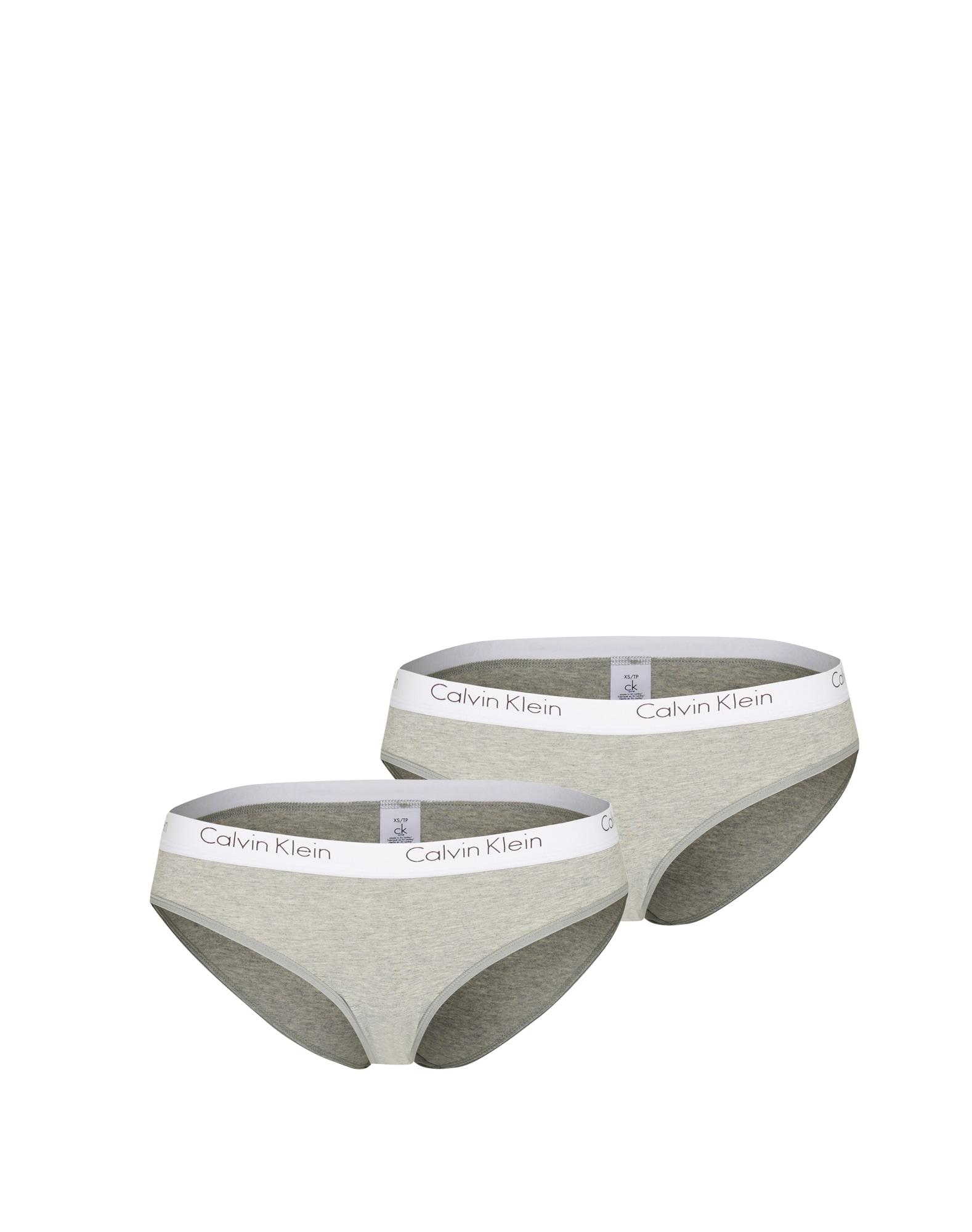 Kalhotky 2PK BIKINI světle šedá Calvin Klein Underwear