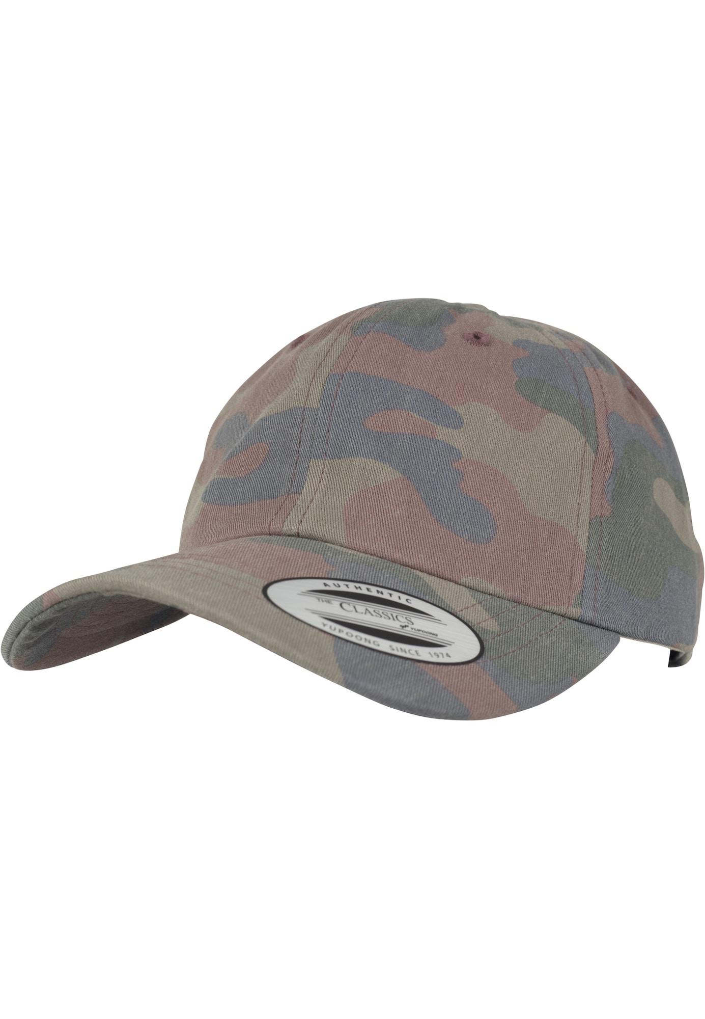 Flexfit Kepurė nebalintos drobės spalva / tamsiai (džinso) mėlyna / žolės žalia / pastelinė raudona