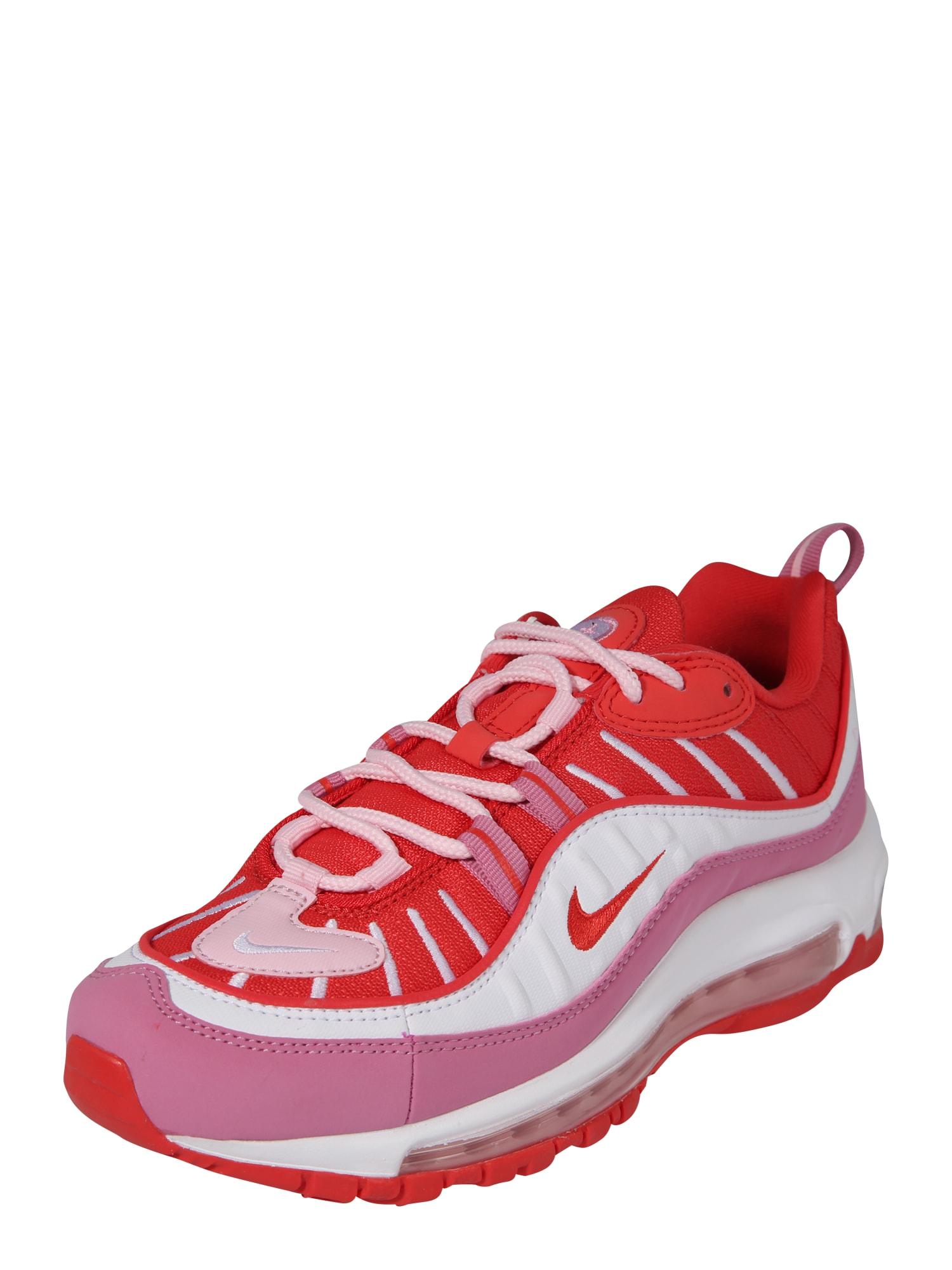 Nike Sportswear Nízke tenisky 'Air Max 98'  červené / biela