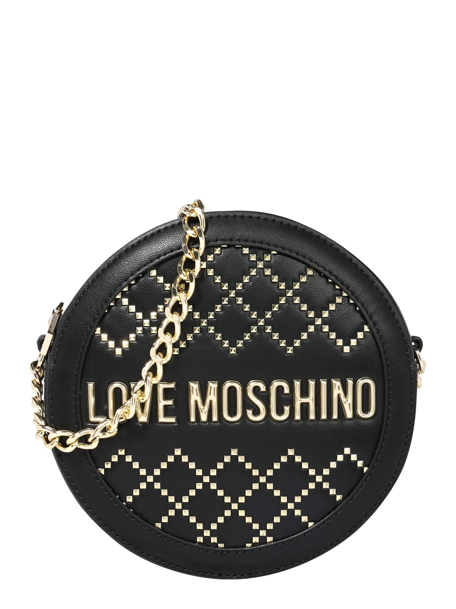 Love Moschino Torba na ramię 'Borsa'  czarny / złoty