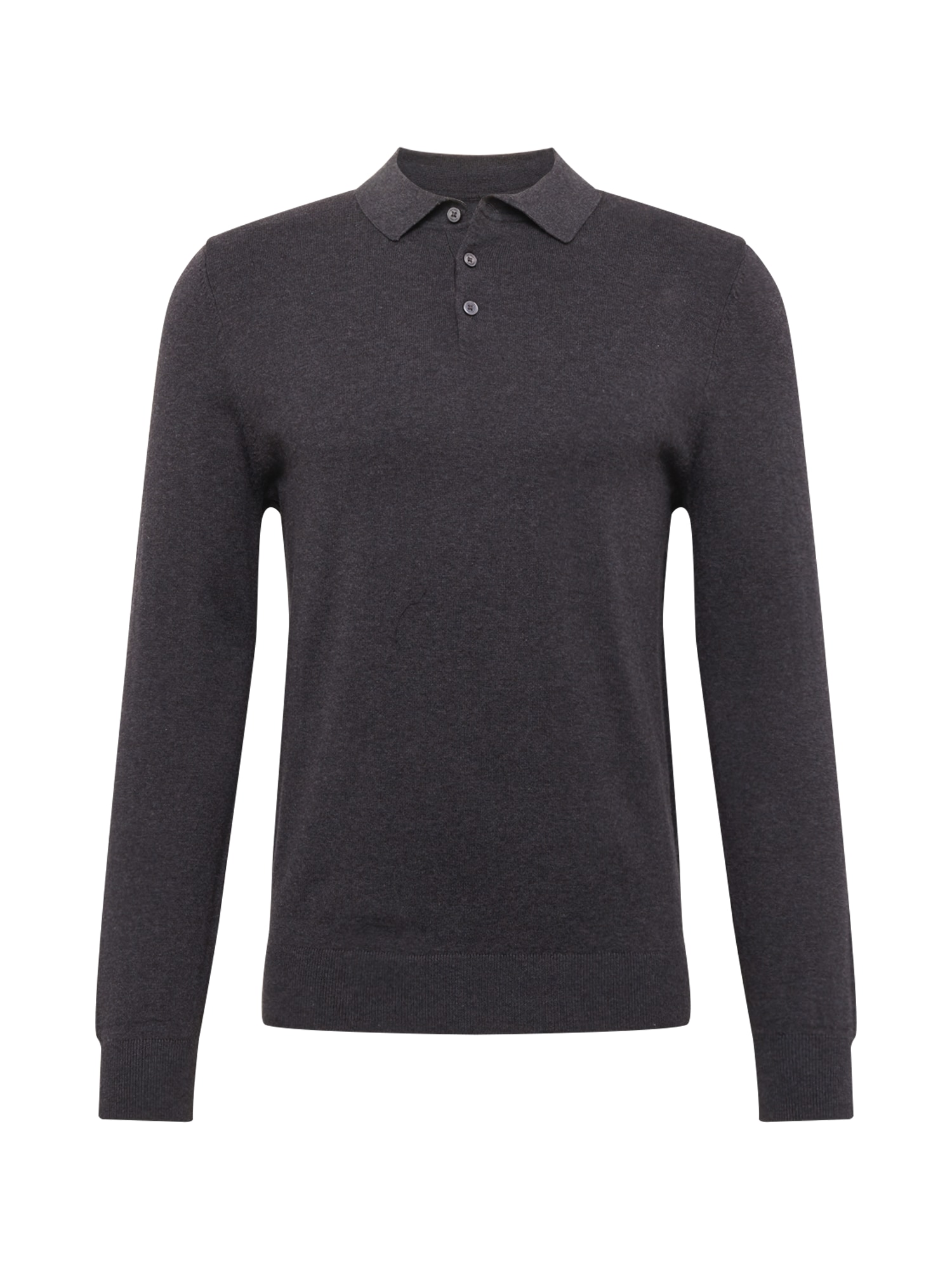 BURTON MENSWEAR LONDON Megztinis 'core polo charcoal' pilka