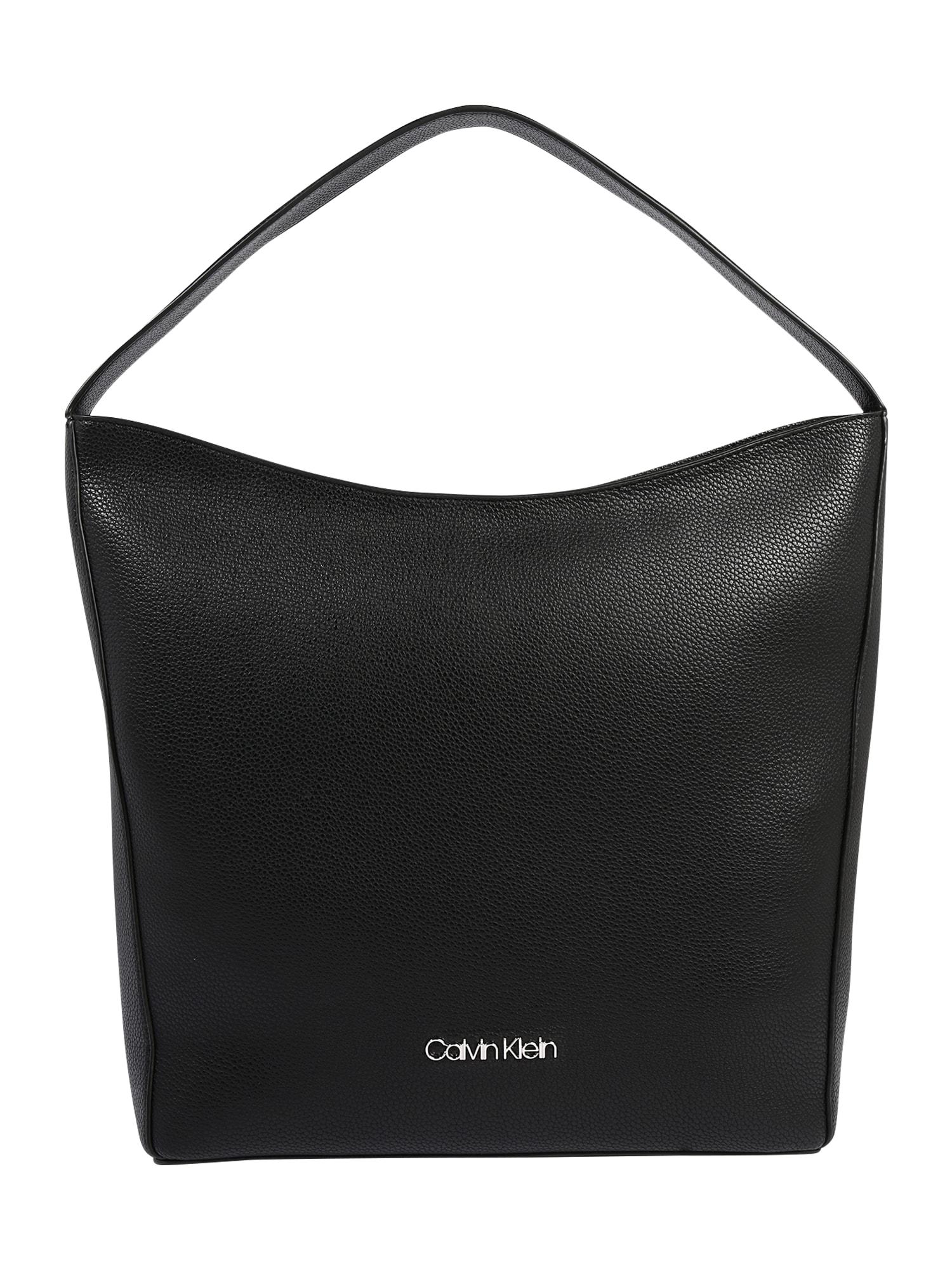 Calvin Klein Rankinė ant peties 'NEAT HOBO MD' juoda